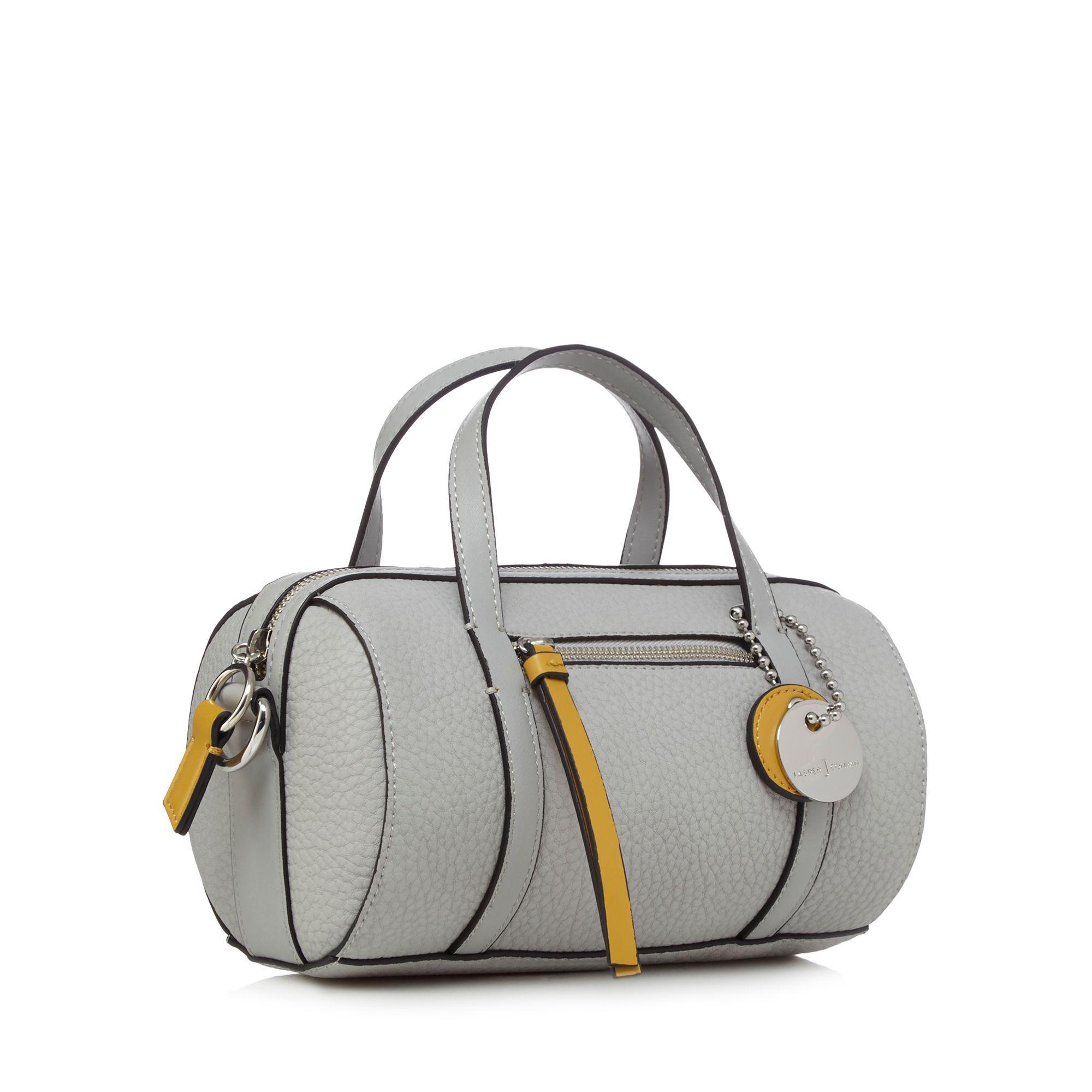 J By Jasper Conran Grey Circular Barrel Cross Body Bag in Grey
