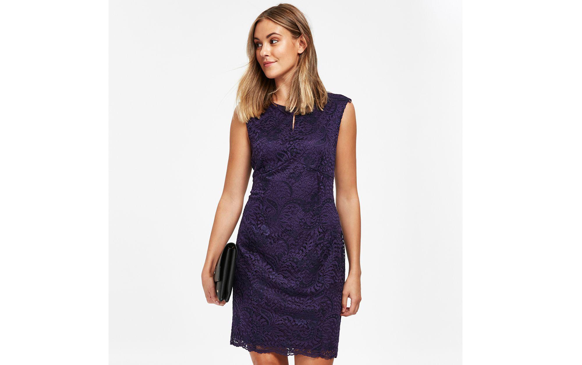 e62182c1806 Wallis Petite Purple Lace Shift Dress in Purple - Lyst