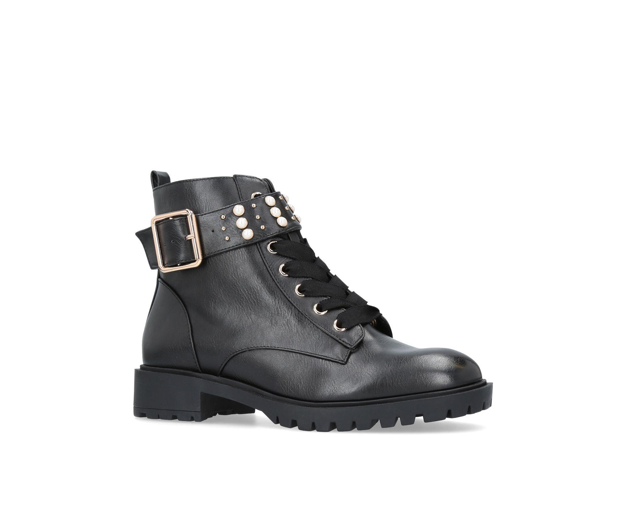 b2ff6e433cb Women's Black Hatty' Flat Ankle Boots