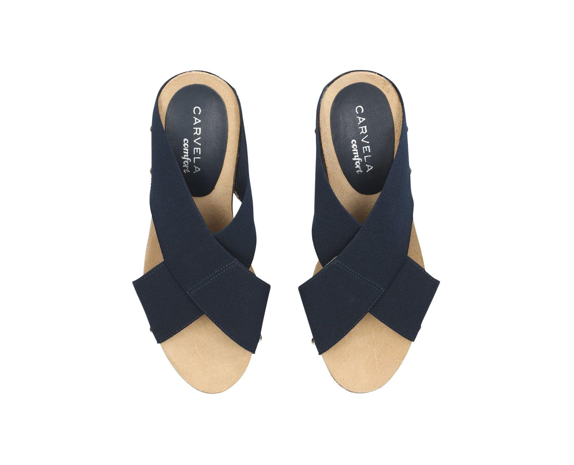 5afd3d35a26 Women's Blue Sooty Leather Wedges 80