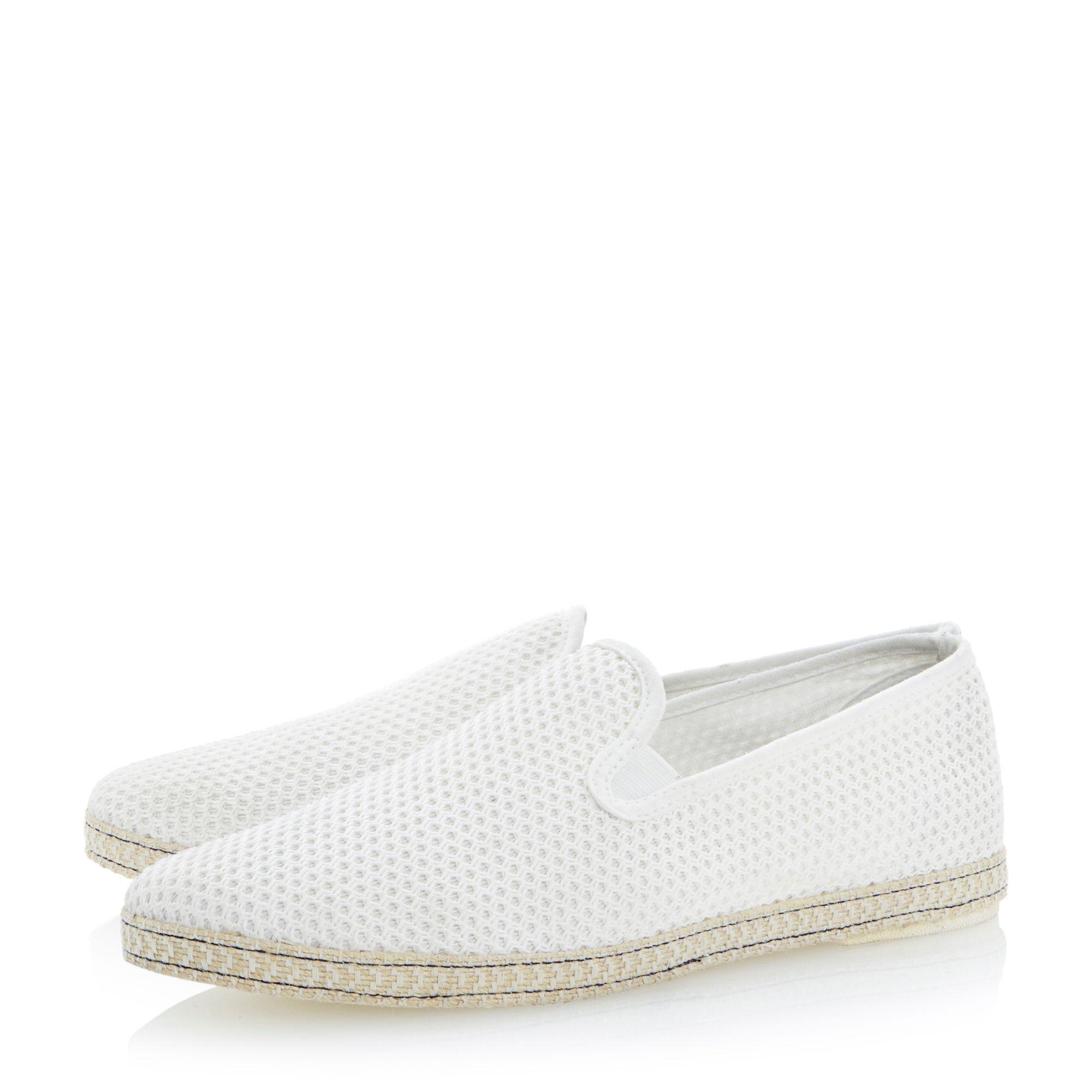b011096d204b Dune - Off White  fence  Mesh Slip On Espadrille Shoes for Men - Lyst. View  fullscreen