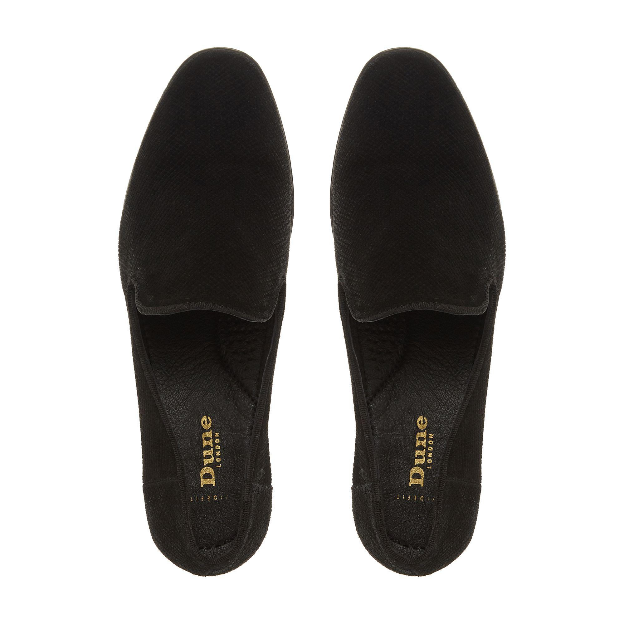 9255a7df45f Dune Black Suede  wf Galiard  Wide Fit Loafers in Black - Save 76 ...