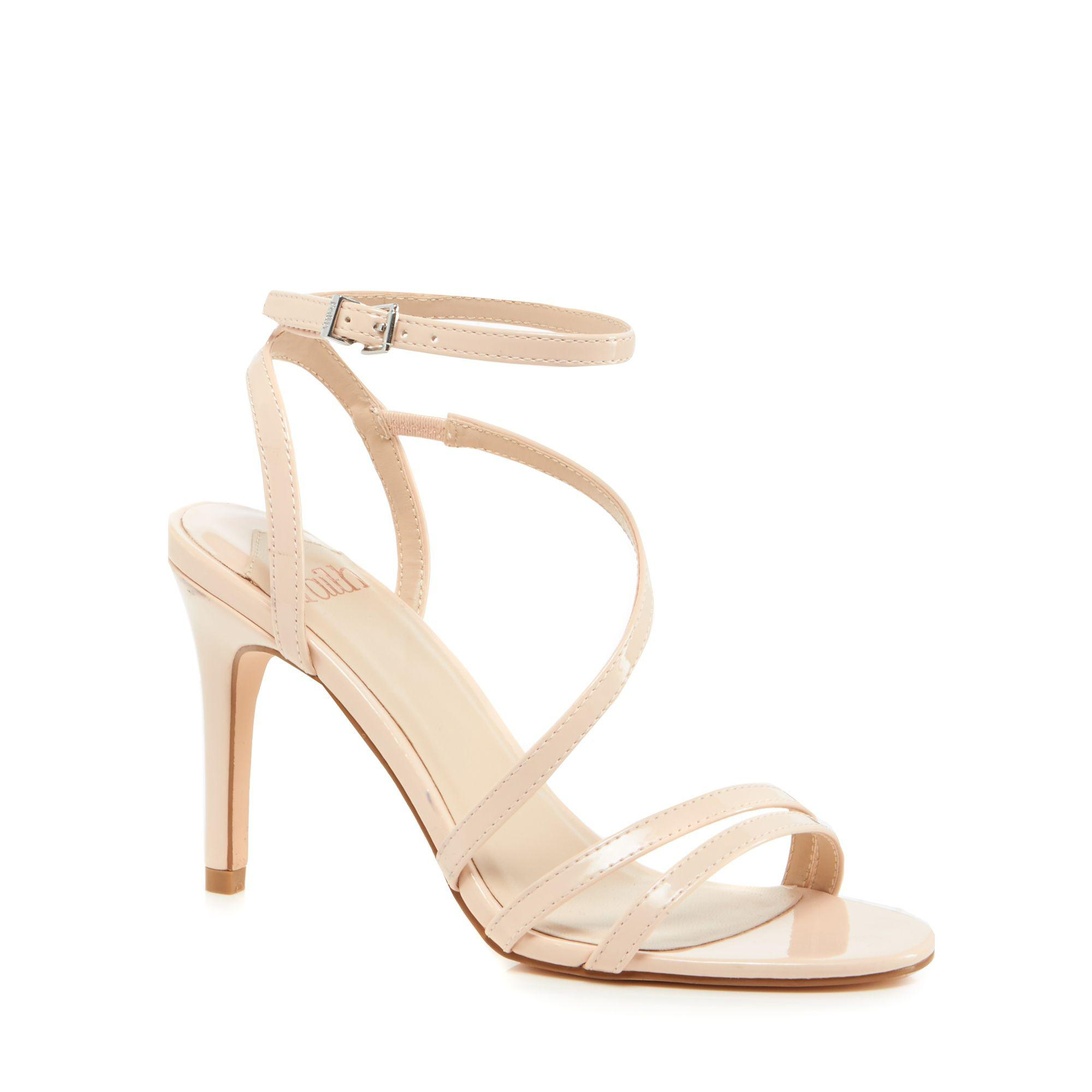 ab4540d0bb6 Faith - Natural Pale Pink Patent  delly  High Stiletto Heel Ankle Strap  Sandals -. View fullscreen