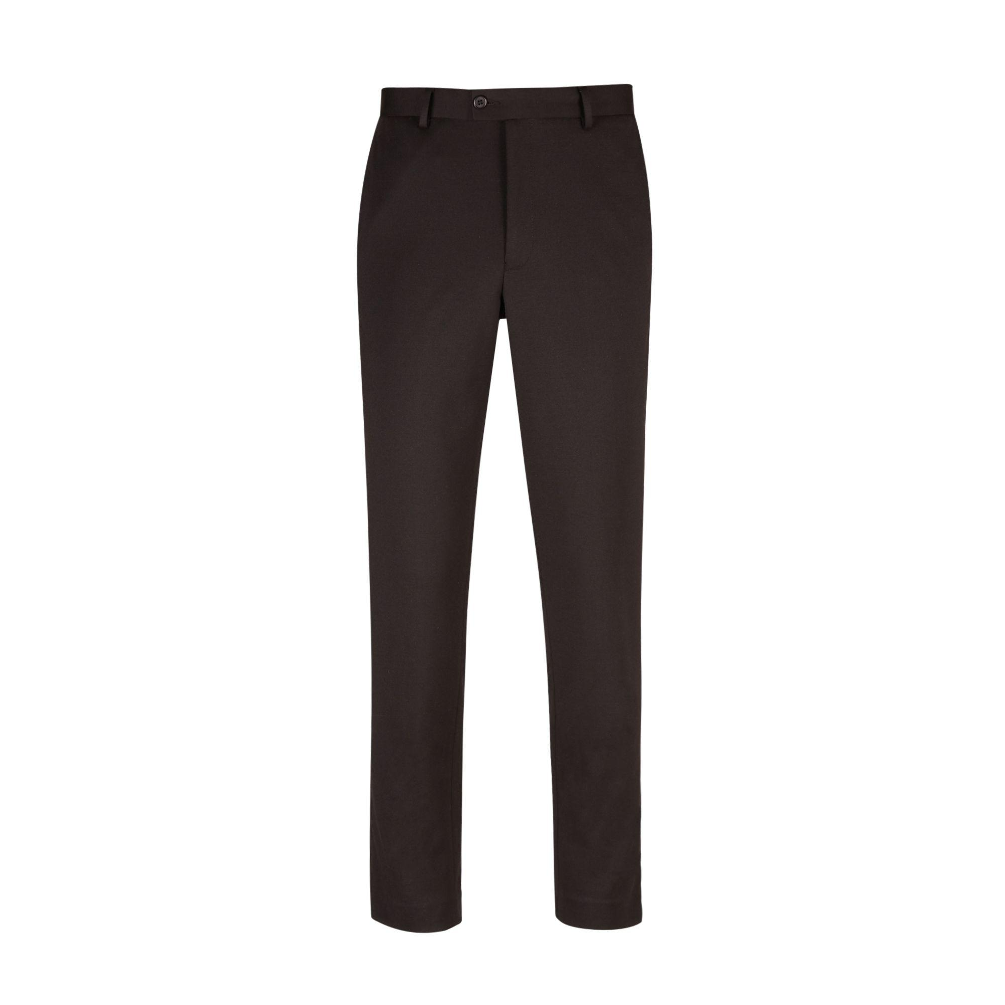 Burton Black Side Striped Tapered Fit Jersey Trousers for Men