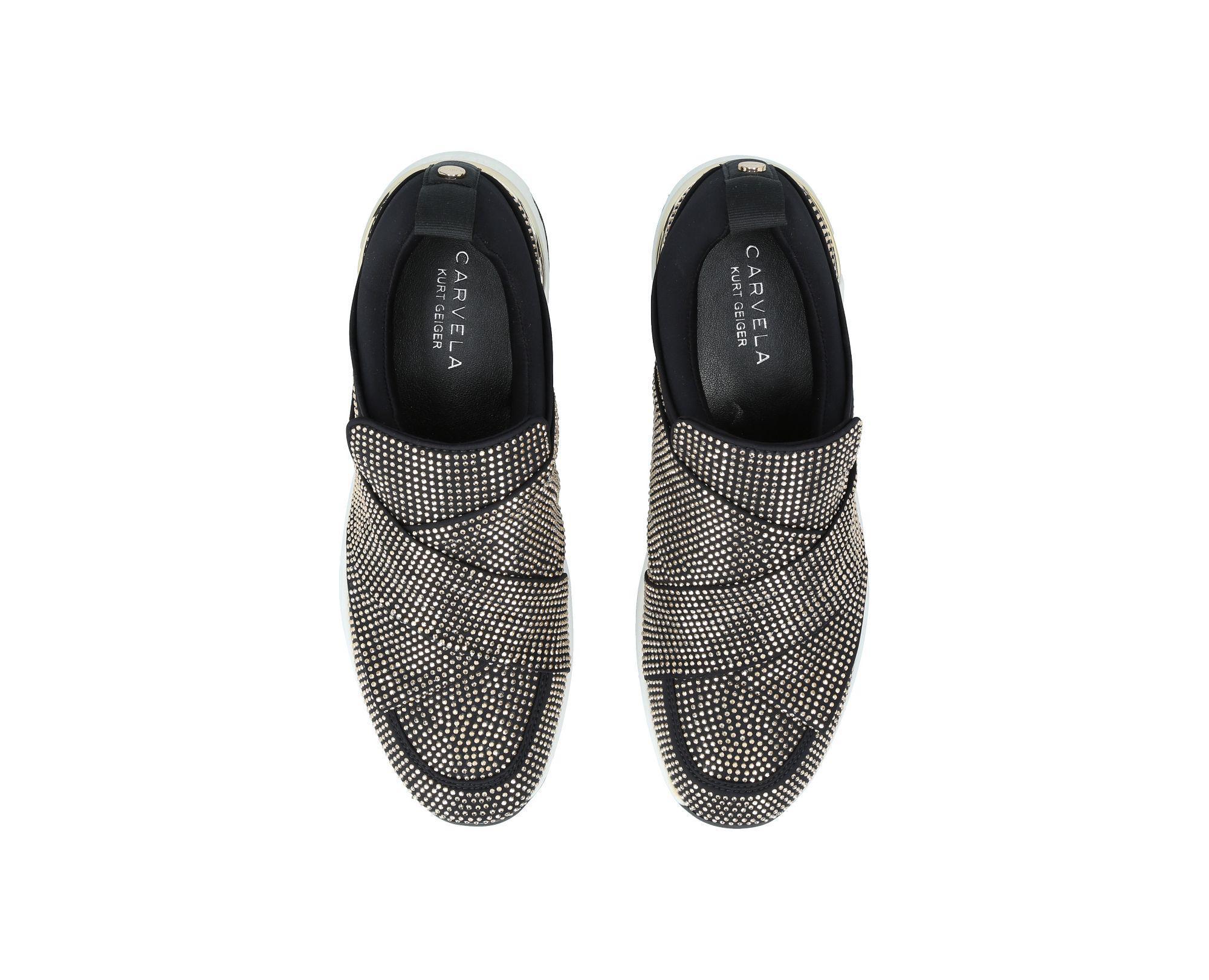Carvela Kurt Geiger Lace Lipstick Flat Slip On Sneakers in Black for Men