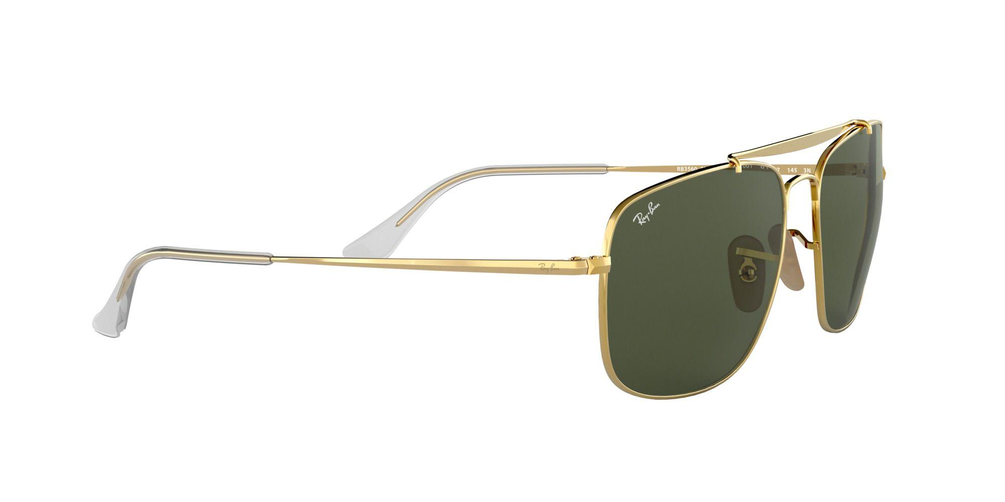 Ray-Ban Gold The Colonel Rb3560 Square Sunglasses in Metallic