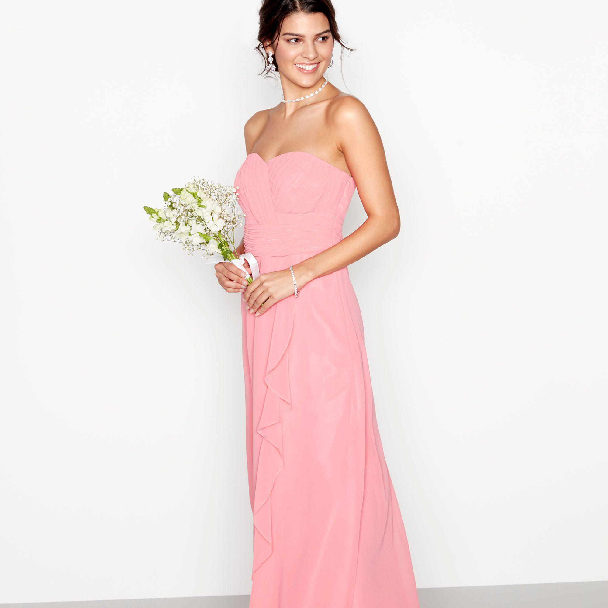 2526a4061403 Début Coral Chiffon 'sara' Strapless Plus Size Bridesmaid Dress in ...