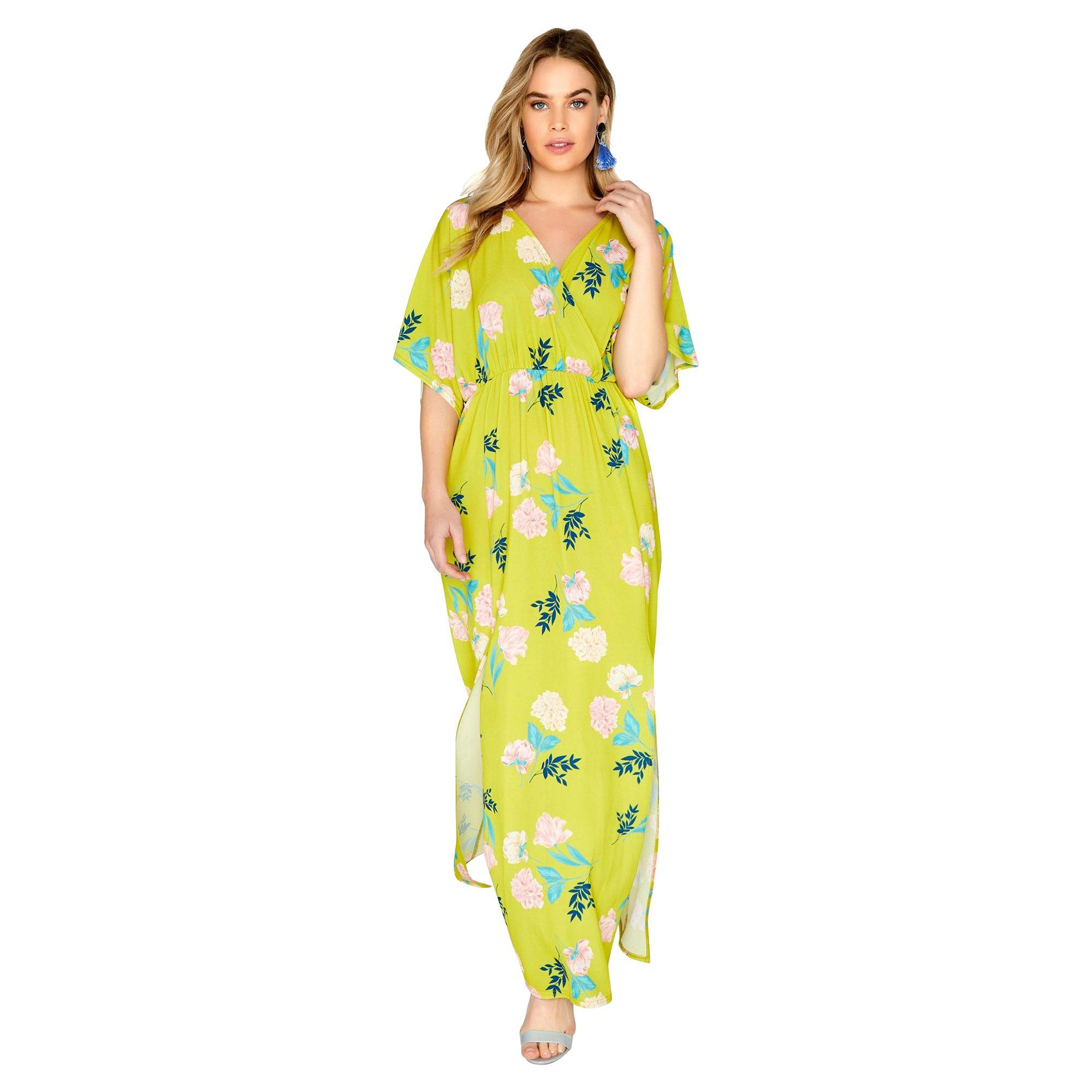 3c26a72510b8 Girls On Film Girls On Fim Yellow Printed Pebble Crepe Maxi Dress in ...