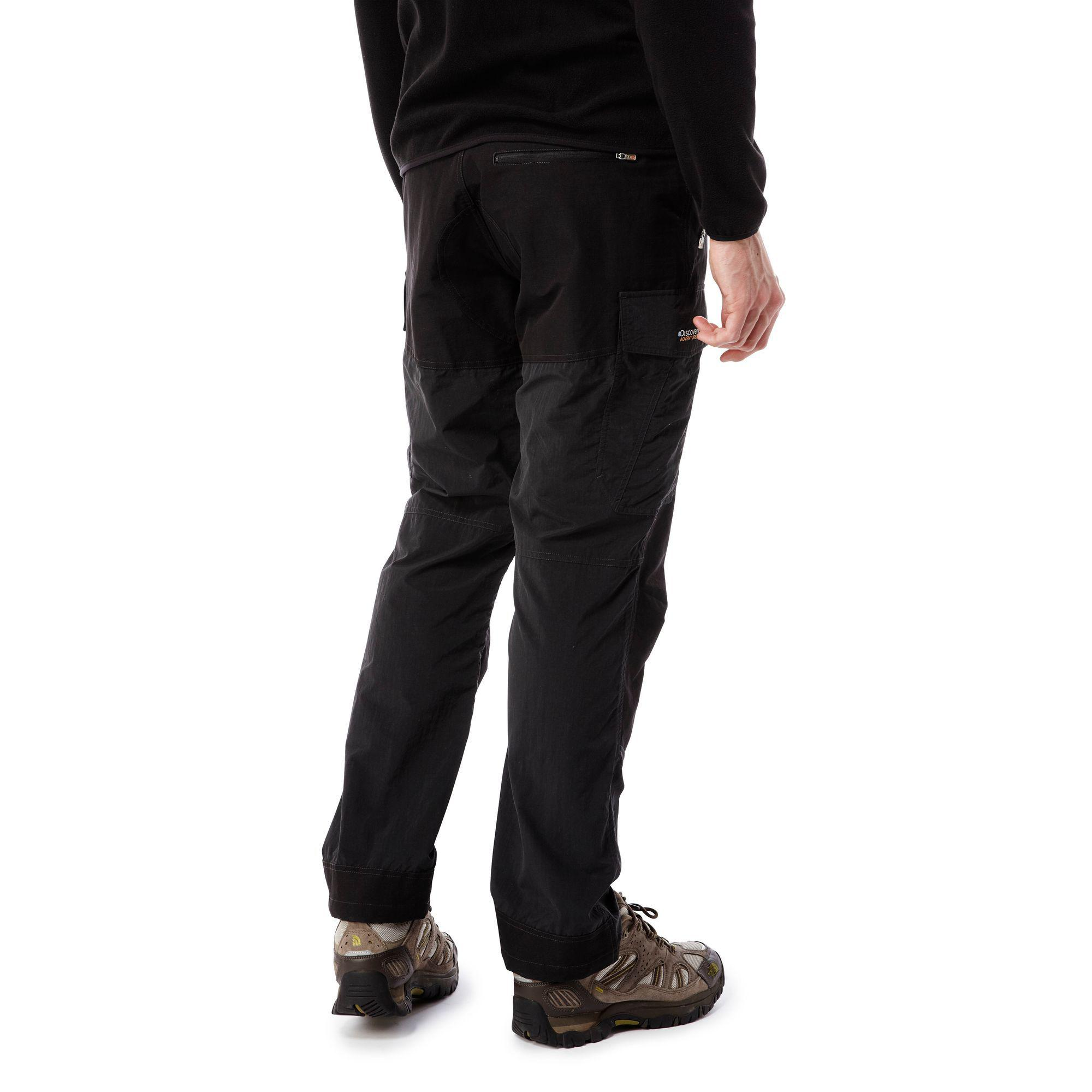 Craghoppers Black Discovery Adventures Trouser for Men