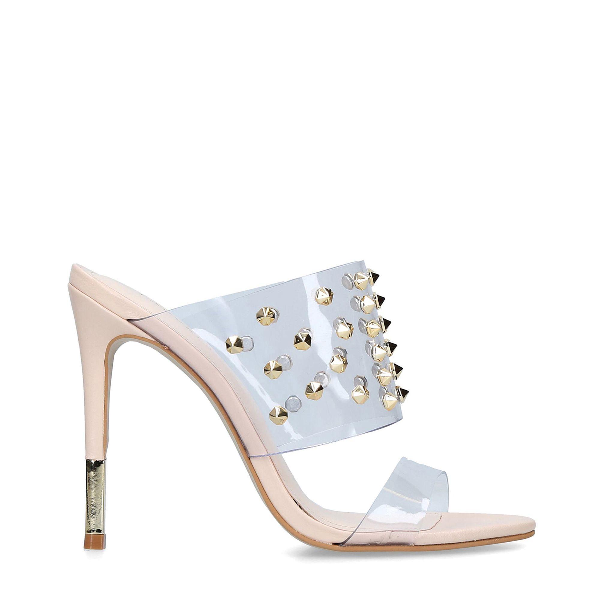 3497328d004 Carvela Kurt Geiger - Natural Ghost Studded Stiletto Heel Sandals - Lyst.  View fullscreen