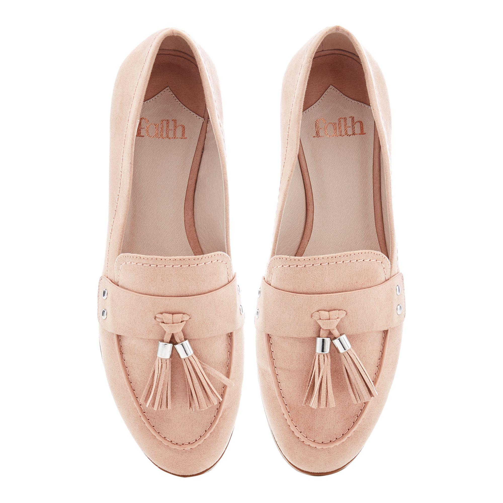 248a3491b Faith Natural Suedette Tassel 'amore' Flat Loafers. View fullscreen