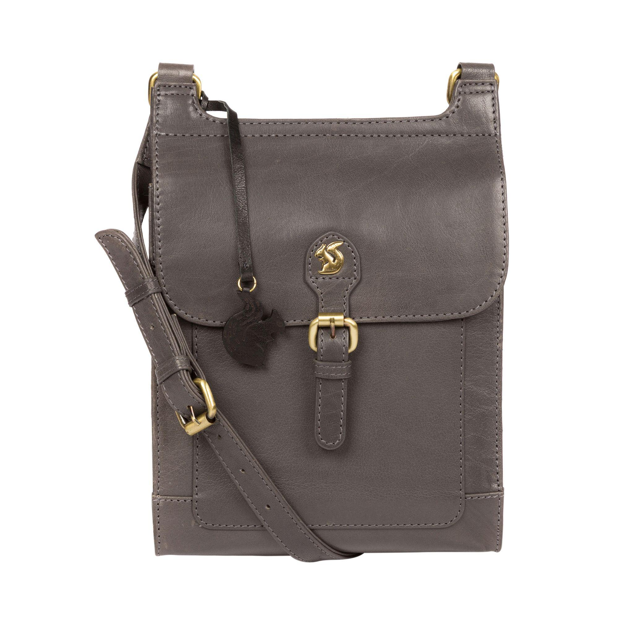 74cfbf61fa75 Conkca London Slate  sasha  Leather Cross-body Bag in Gray - Lyst