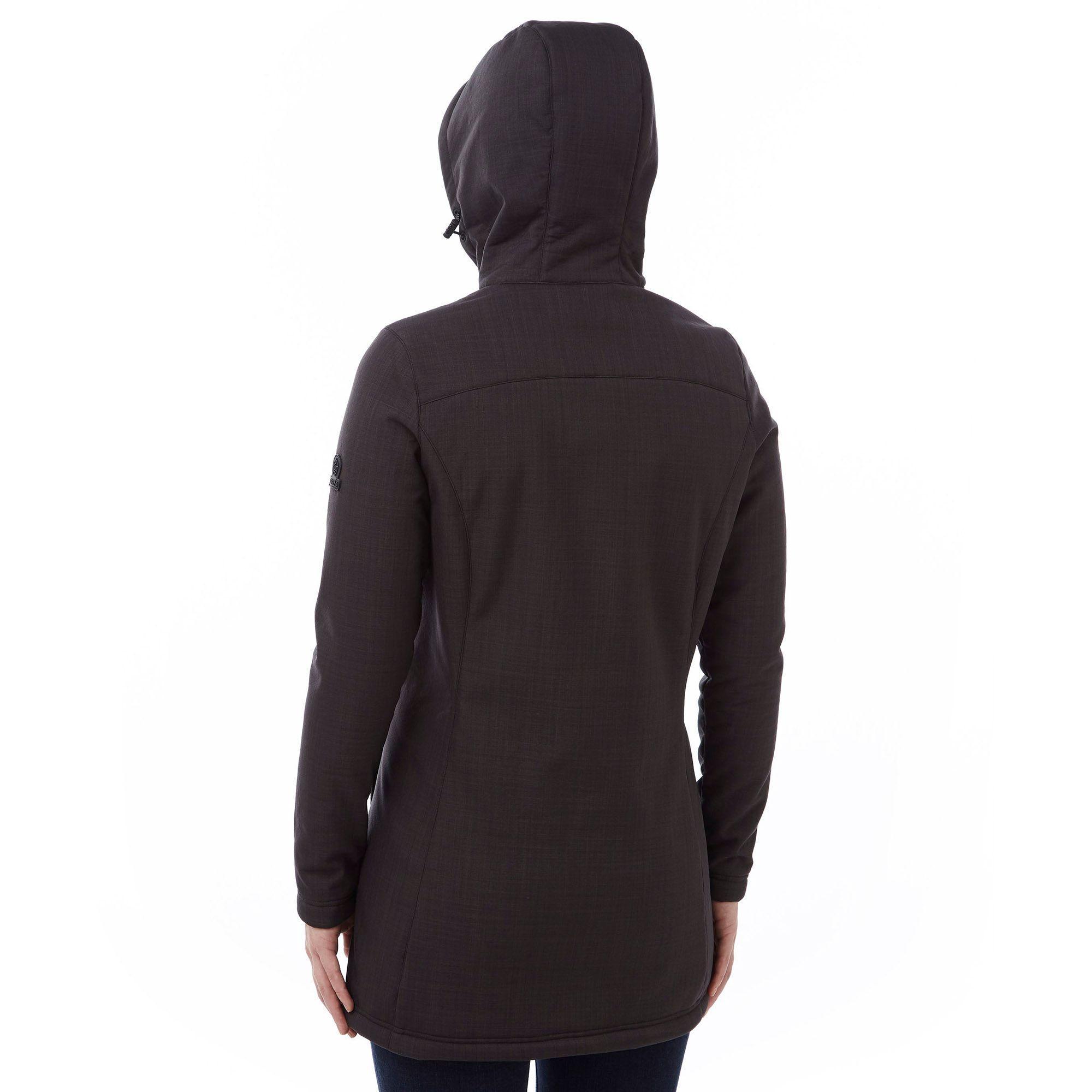 Tog 24 Fleece Marl Raine Tcz Shell Hooded Jacket In Black