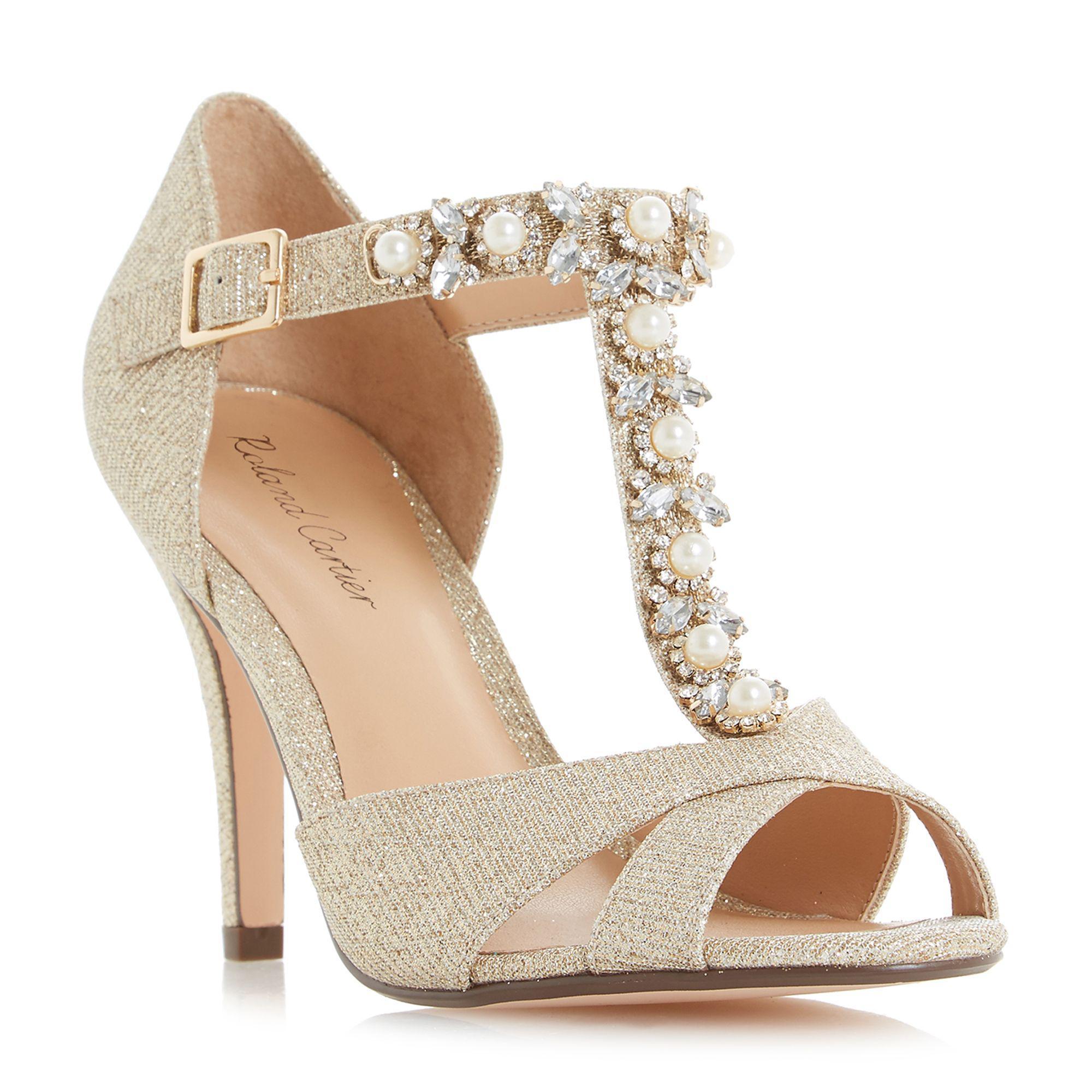 7c6081fd3b8 Roland Cartier Gold Glitter  maddalyn  High Stiletto Heel Court ...