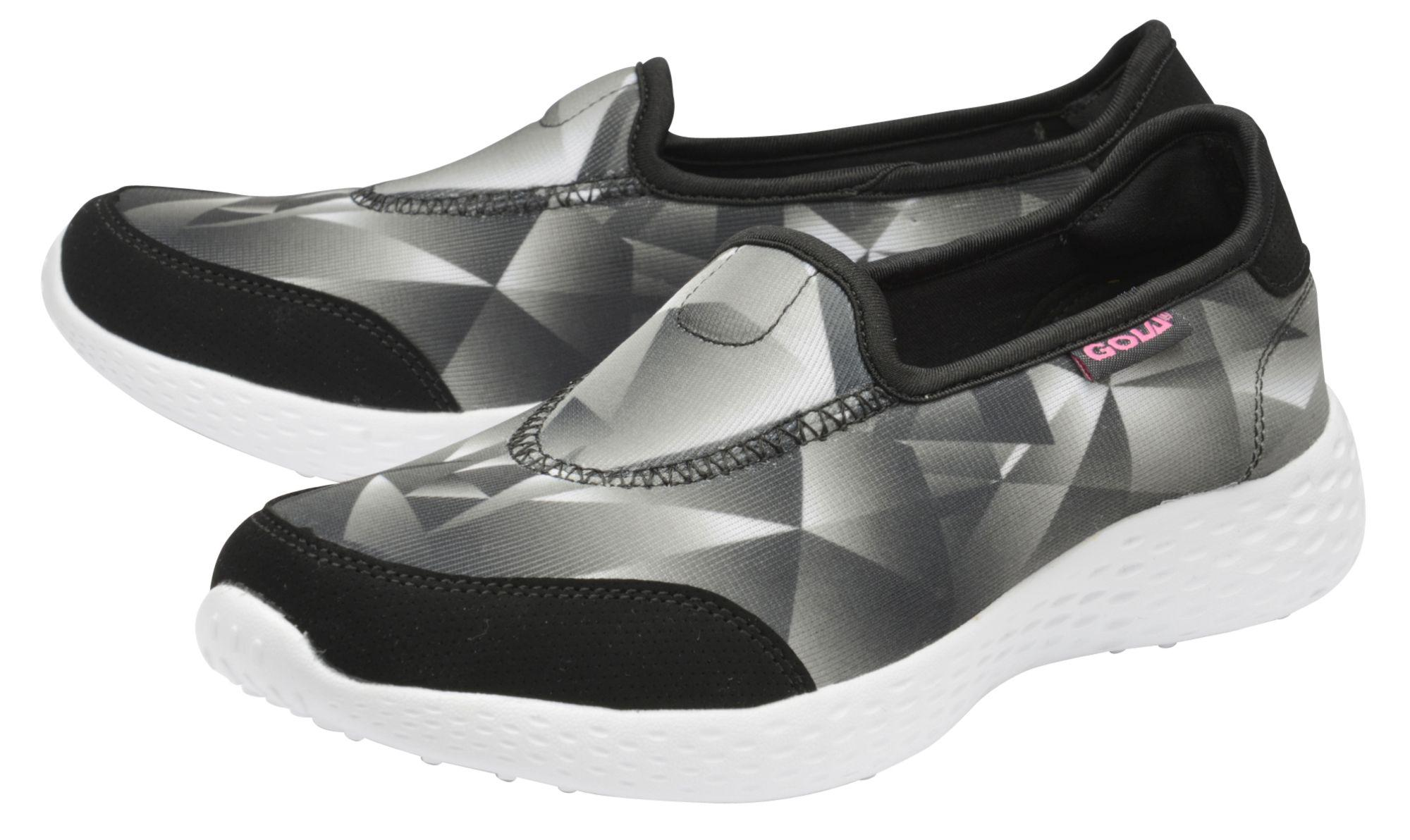 Gola Black/white 'san Luis' Ladies Slip On Trainers