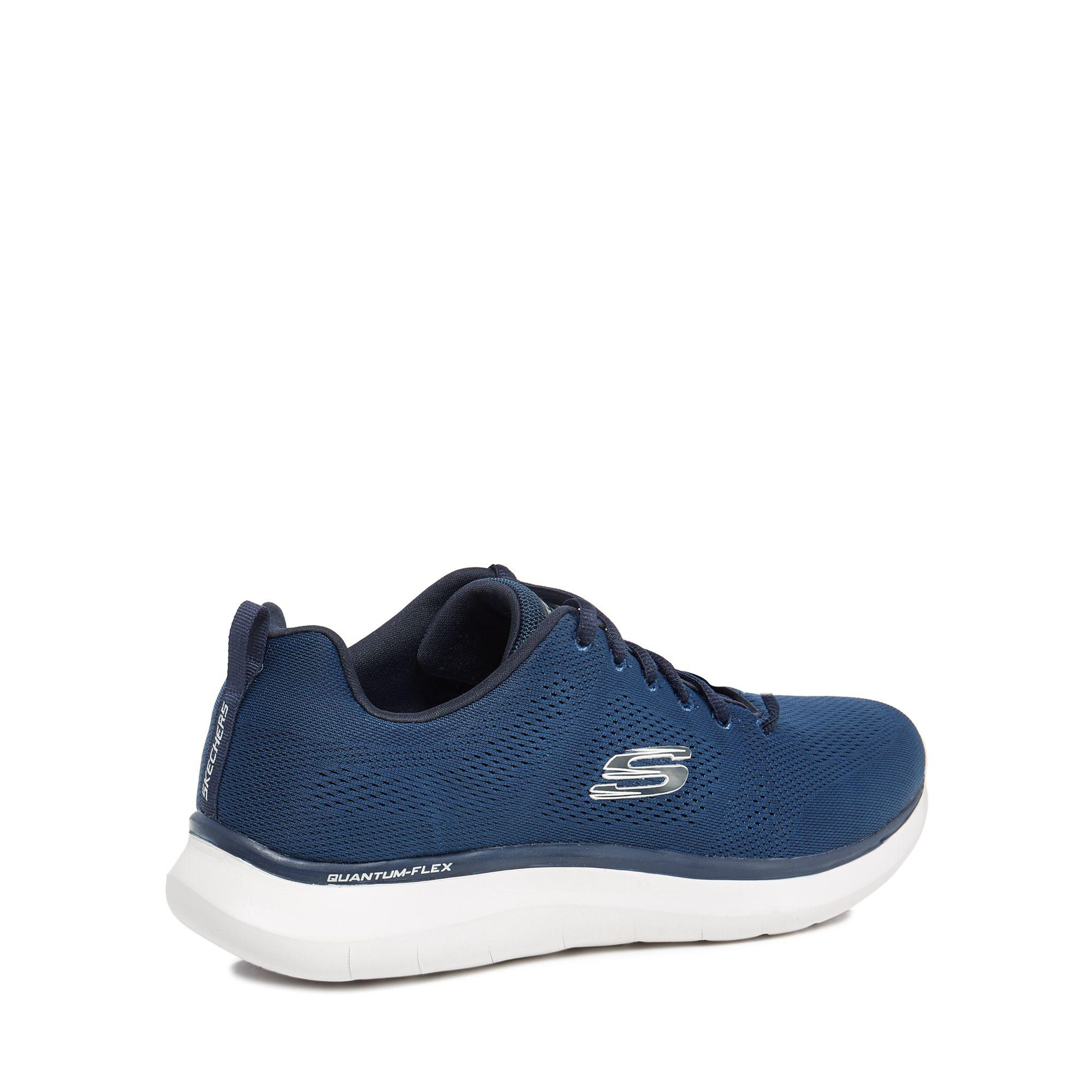 Skechers Lace Navy 'quantum' Trainers in Blue for Men
