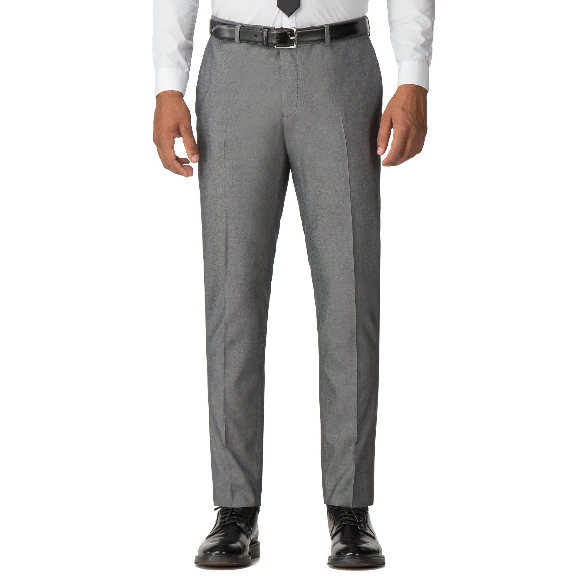 45e8817797503c Red Herring. Men's Gray Light Grey Tonic With Tipping Slim Fit Suit Trousers