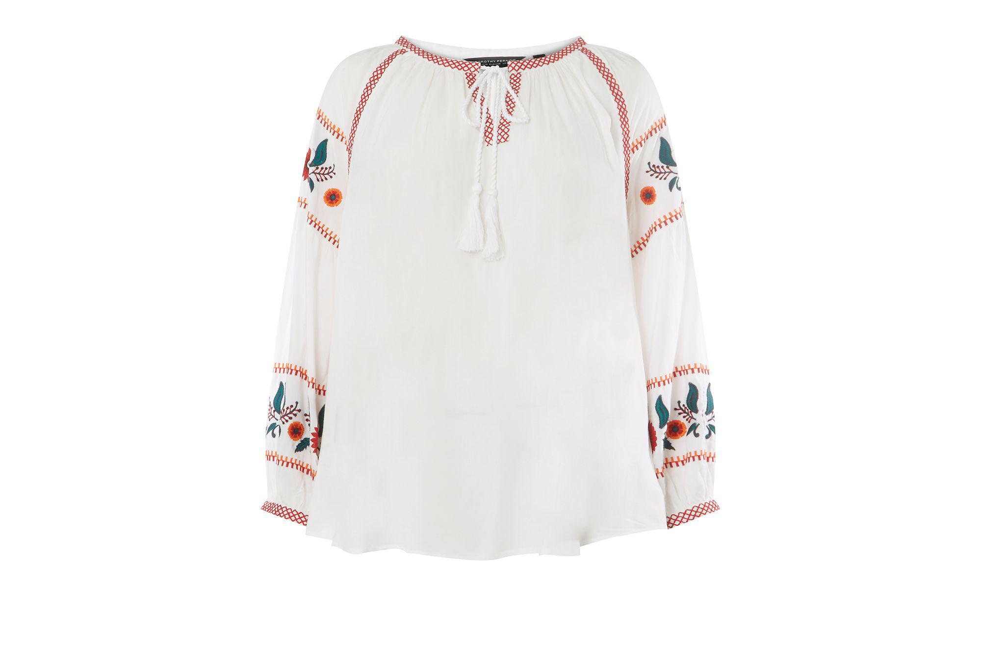 Enjoy For Sale Clearance Amazing Price Dorothy Perkins Womens Embroidered Boho Top- Sale Fake Many Kinds Of aqNvSq