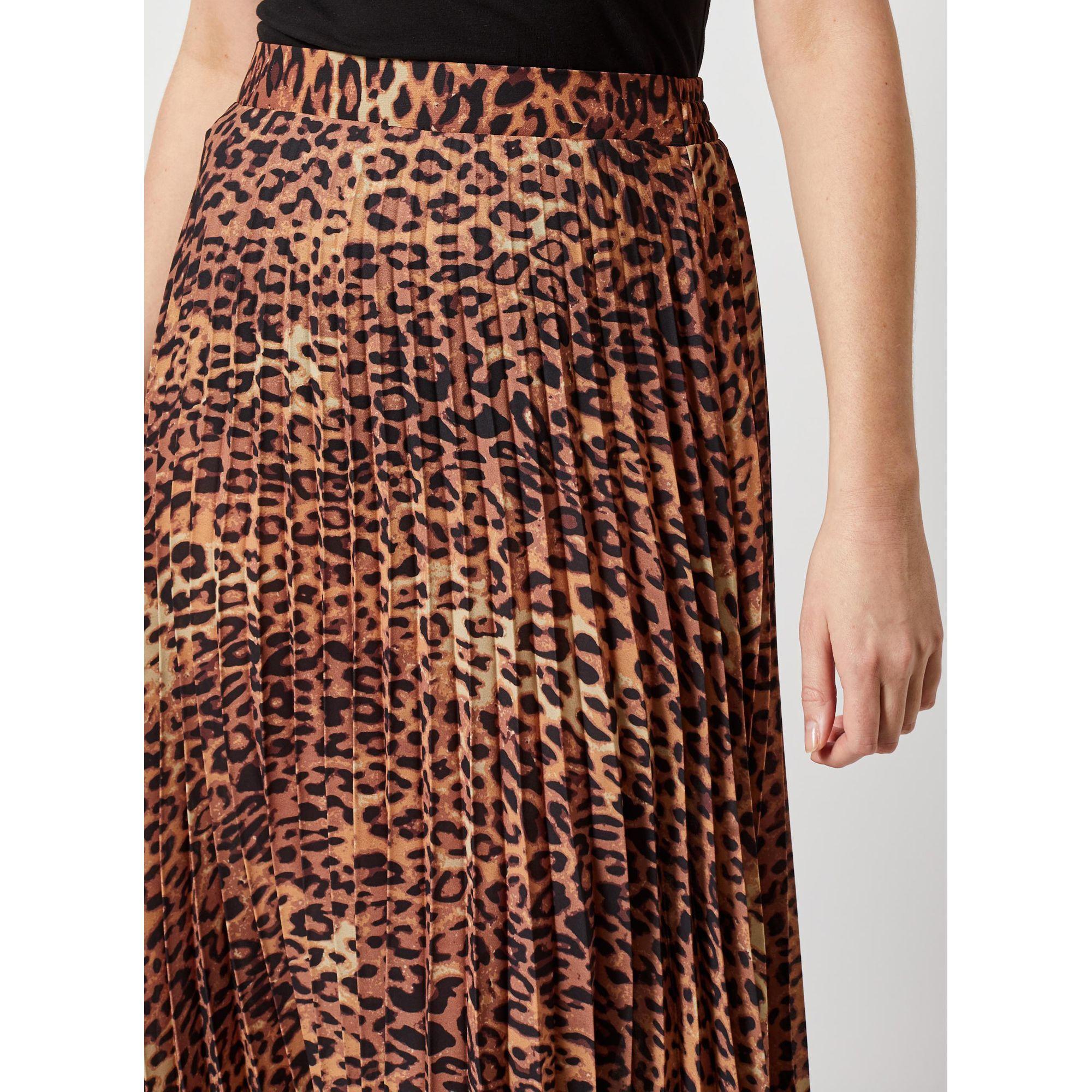 51936bd87e ... Dorothy Perkins - Brown Animal Print Pleated Midi Skirt - Lyst. Visit  Debenhams. Tap to visit site