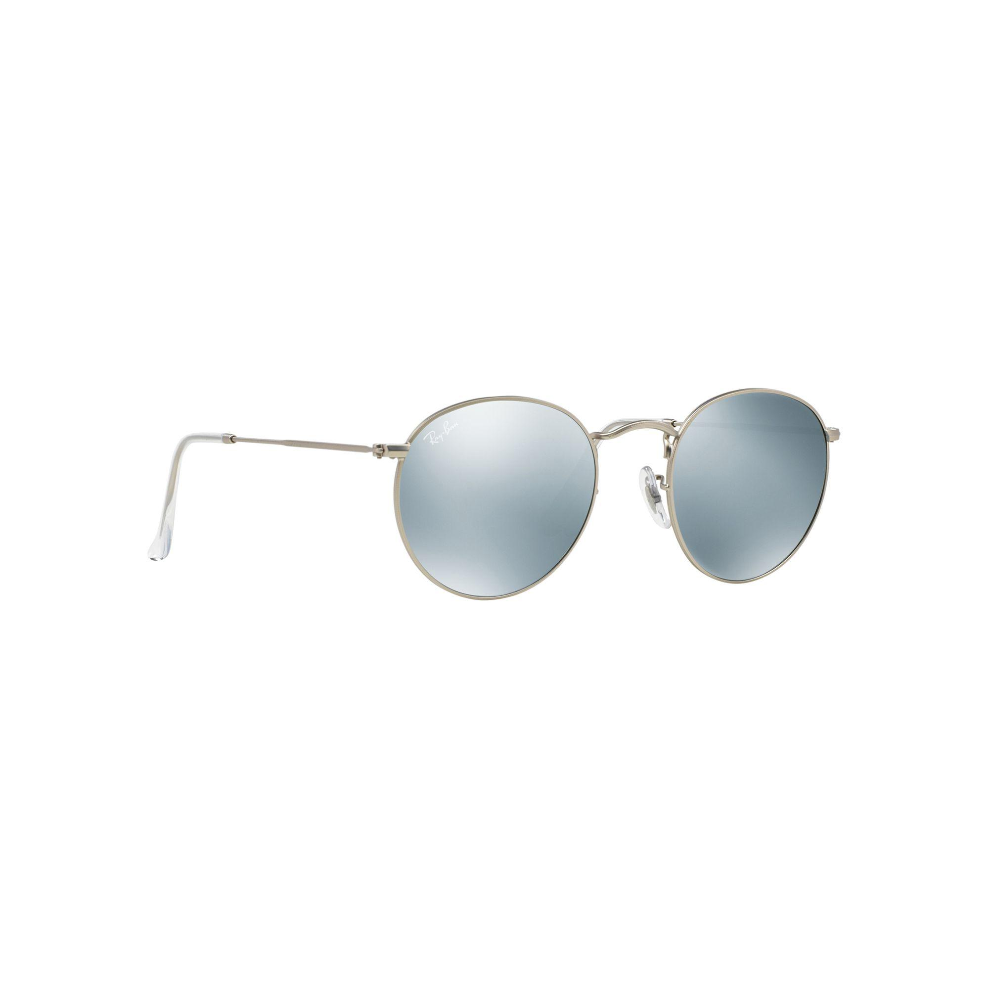 f90f2cdbc0f Ray-Ban Matte Silver  round  Rb3447 Sunglasses in Metallic for Men ...