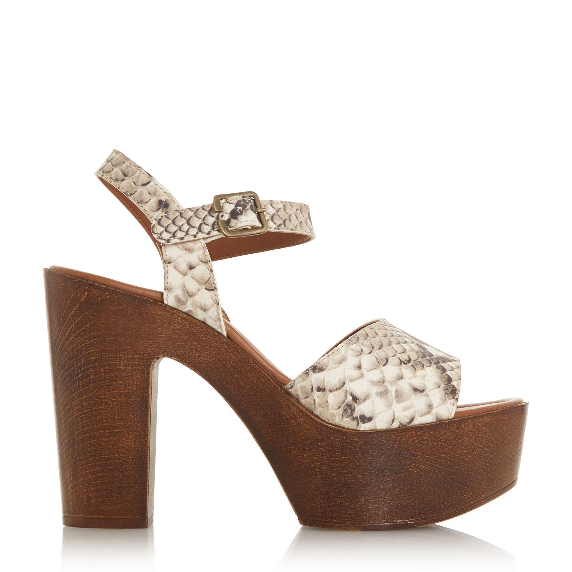 62dacac47b4 Steve Madden Natural Leather  lulla  High Platform Peep Toe Sandals ...