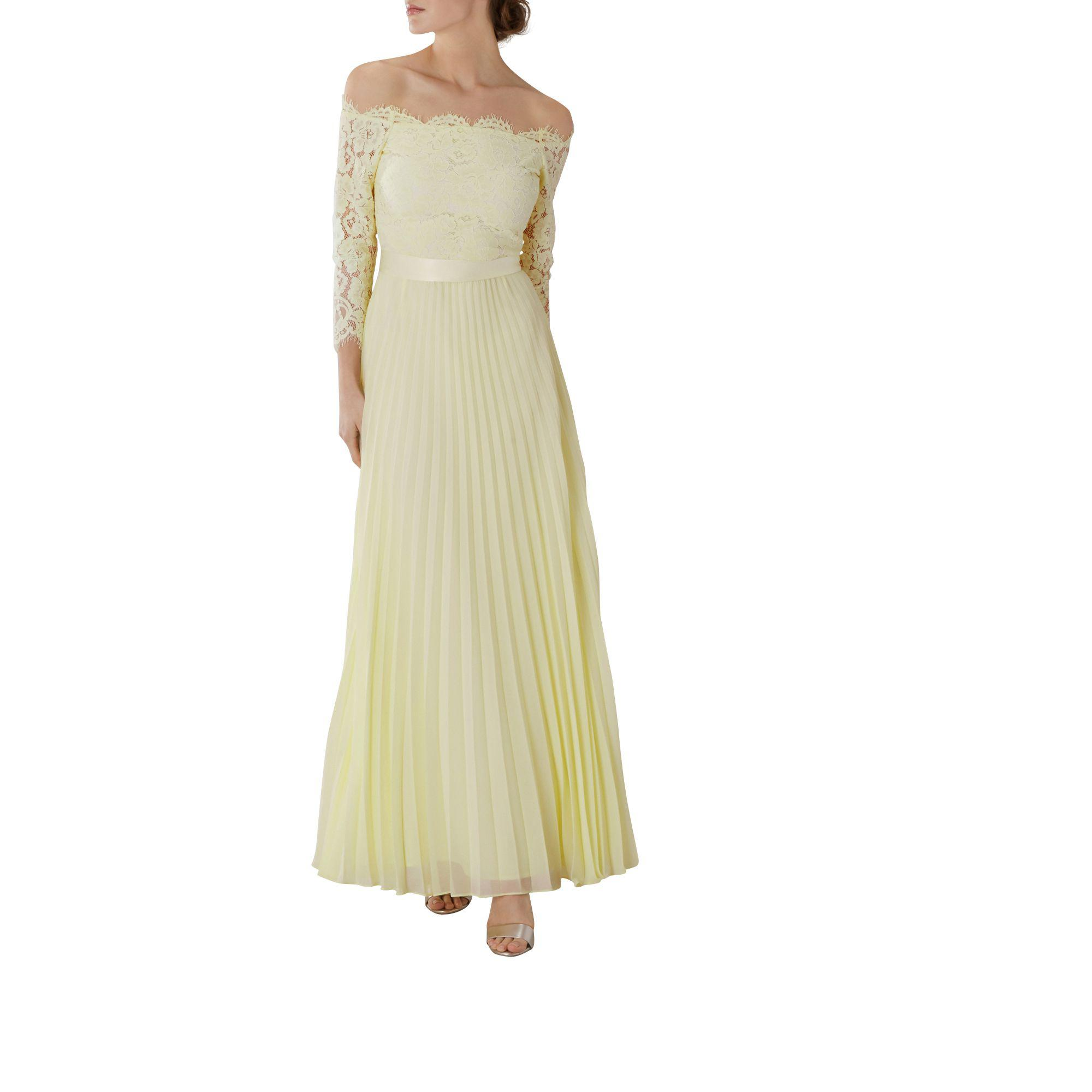 b492a685db69 Coast Lemon Lace 'imi' Bardot Long Sleeve Maxi Bridesmaid Dress in ...