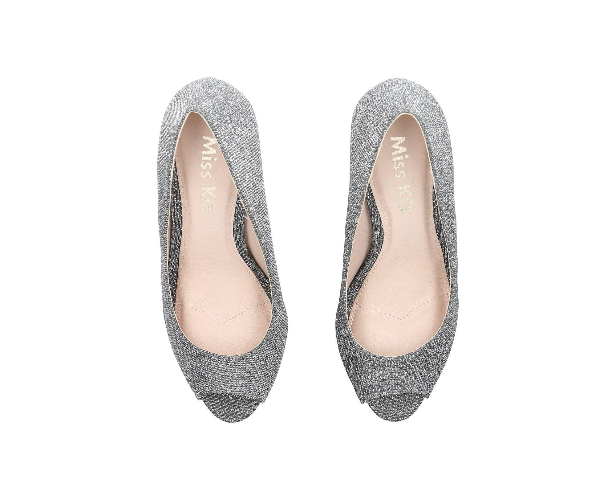 ca808dc06f6 Miss Kg - Gray Pewter  cooper  Mid Heel Court Shoes - Lyst. View fullscreen