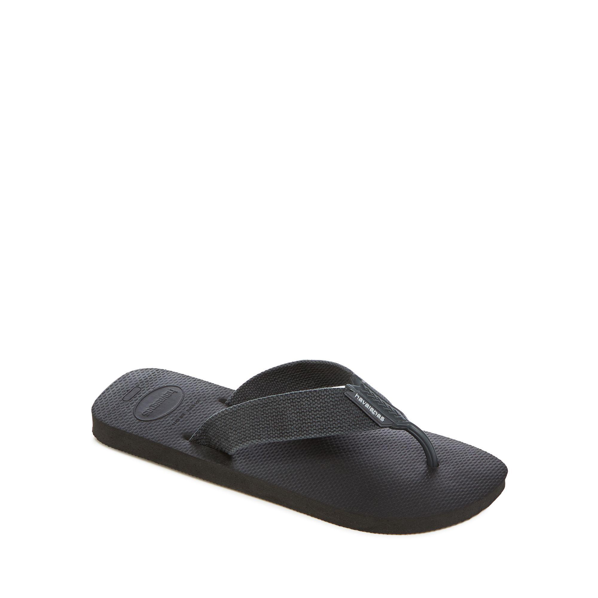 1322c892b6ae Havaianas Grey Canvas  urban  Flip Flops in Black for Men - Lyst