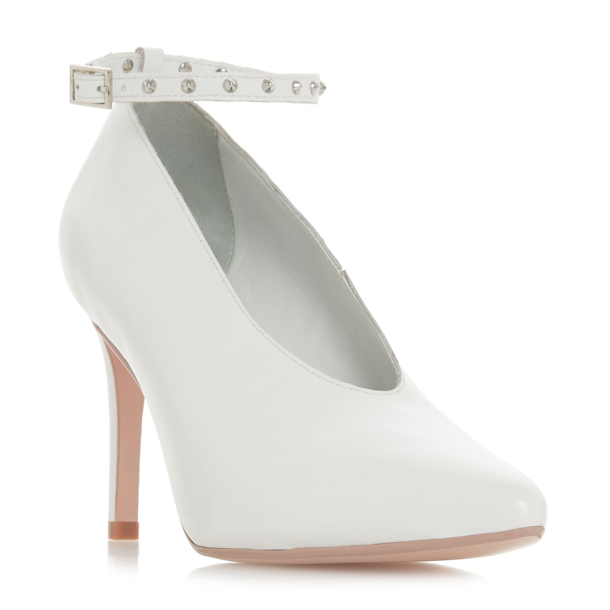f71a2b74faa Dune White Leather  ara  High Stiletto Heel Court Shoes in White - Lyst