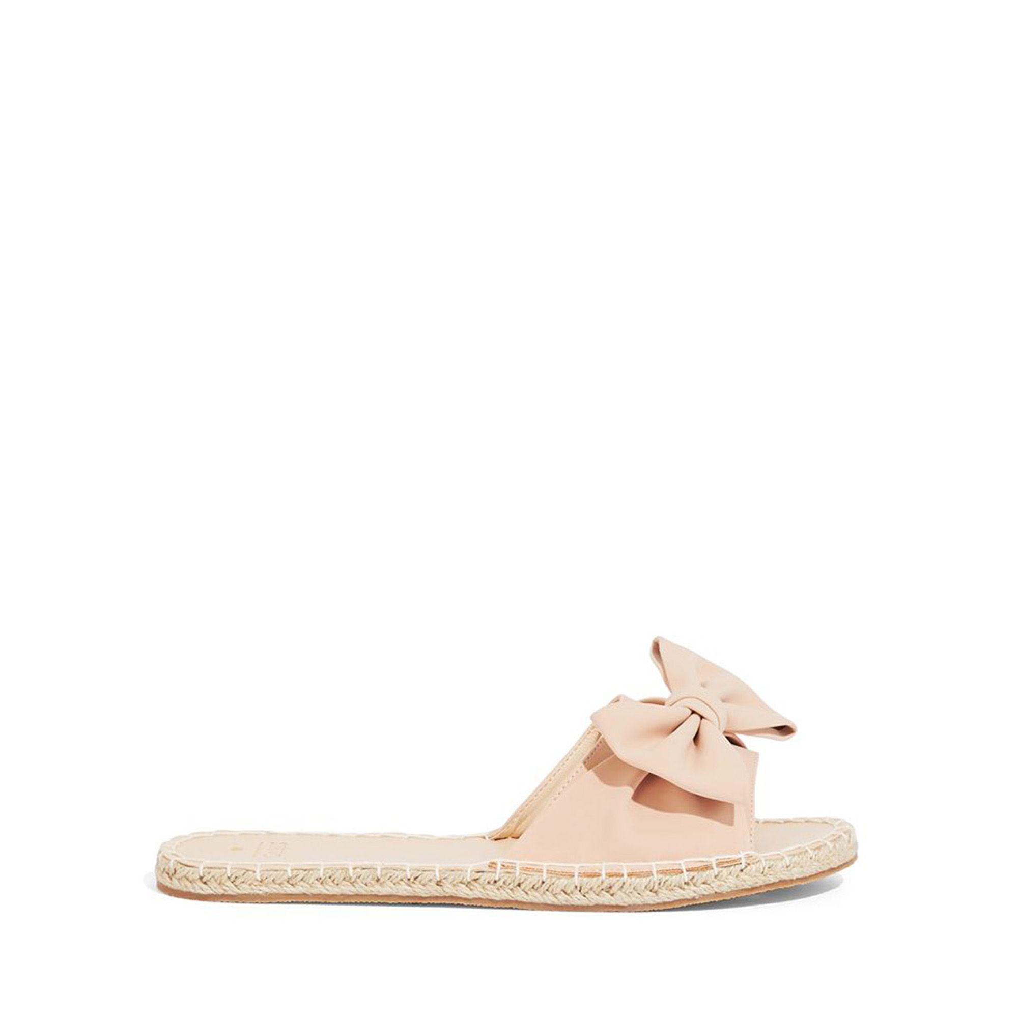 7c2a25a19113 Oasis Nude Bow Espadrille Sliders in Natural - Lyst