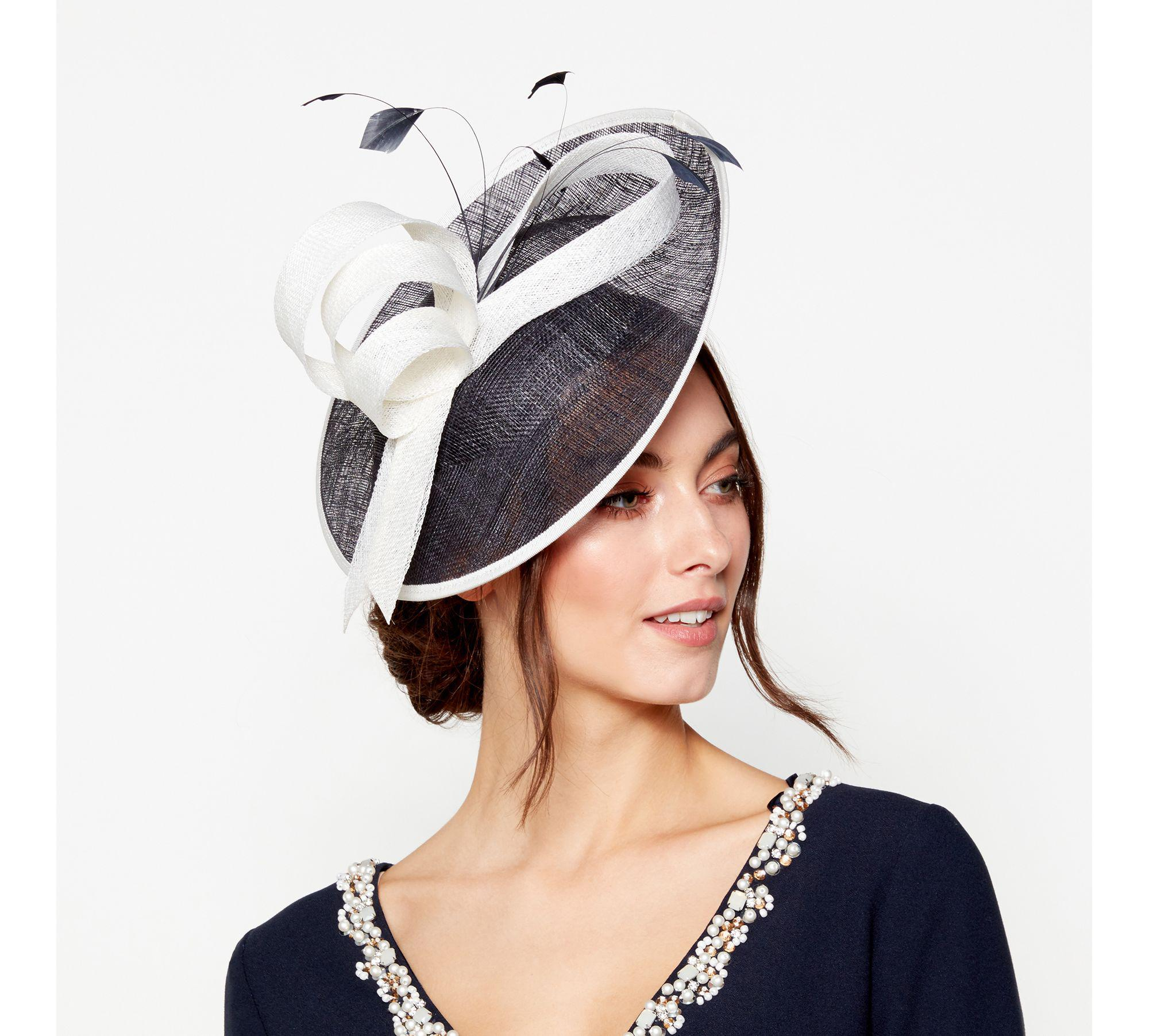 Début Navy Two Tone Saucer Fascinator in Blue - Lyst 8bea84885ca