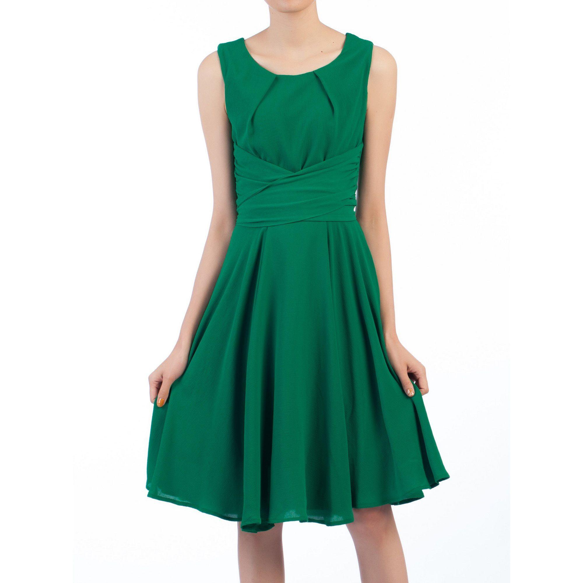 c33b7c2d1830 Jolie Moi Green Cross Belted Skater Dress in Green - Save 20% - Lyst