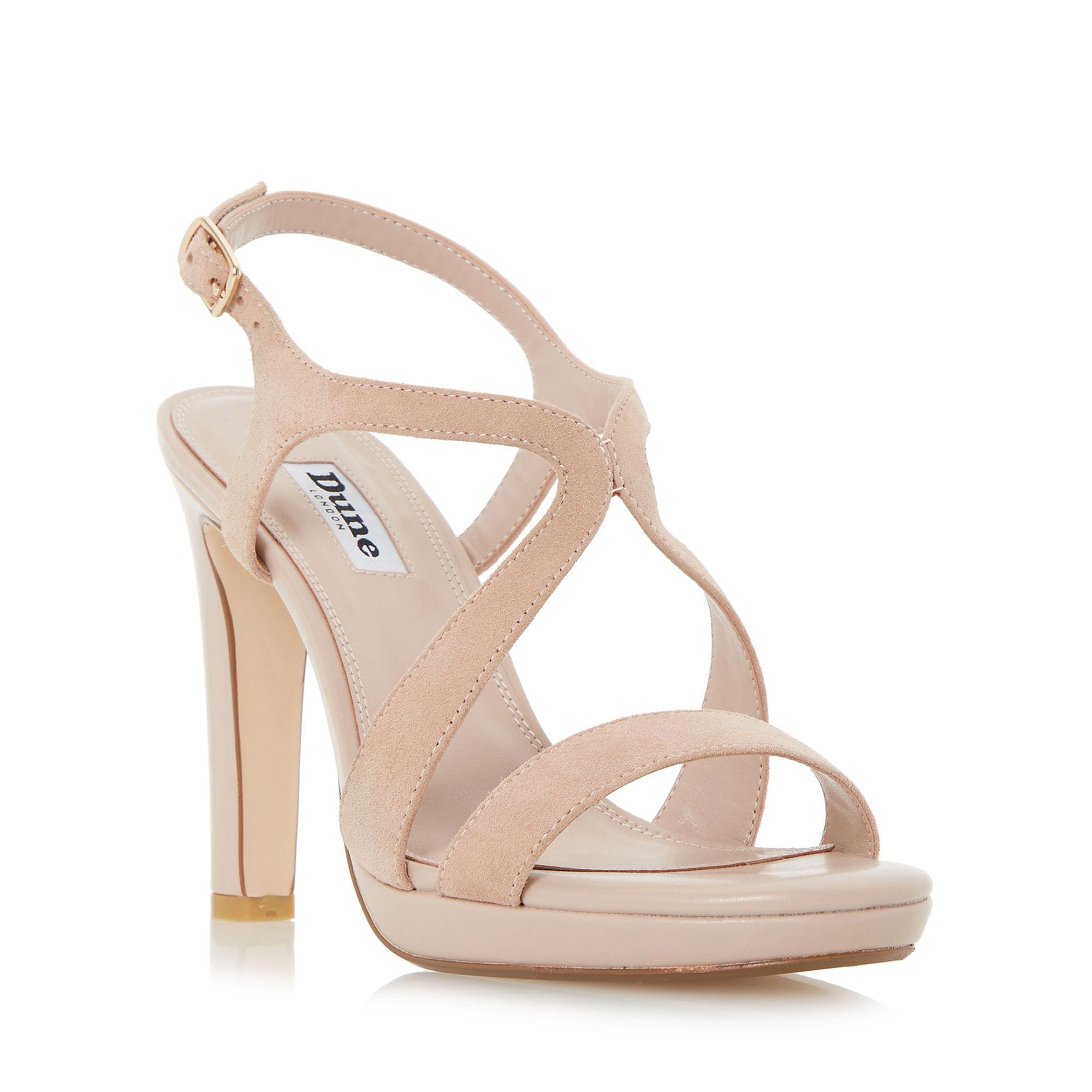 8e09fb1a517 Dune Light Pink  maya  Strap Detail Slim Platform Sandals in Pink - Lyst