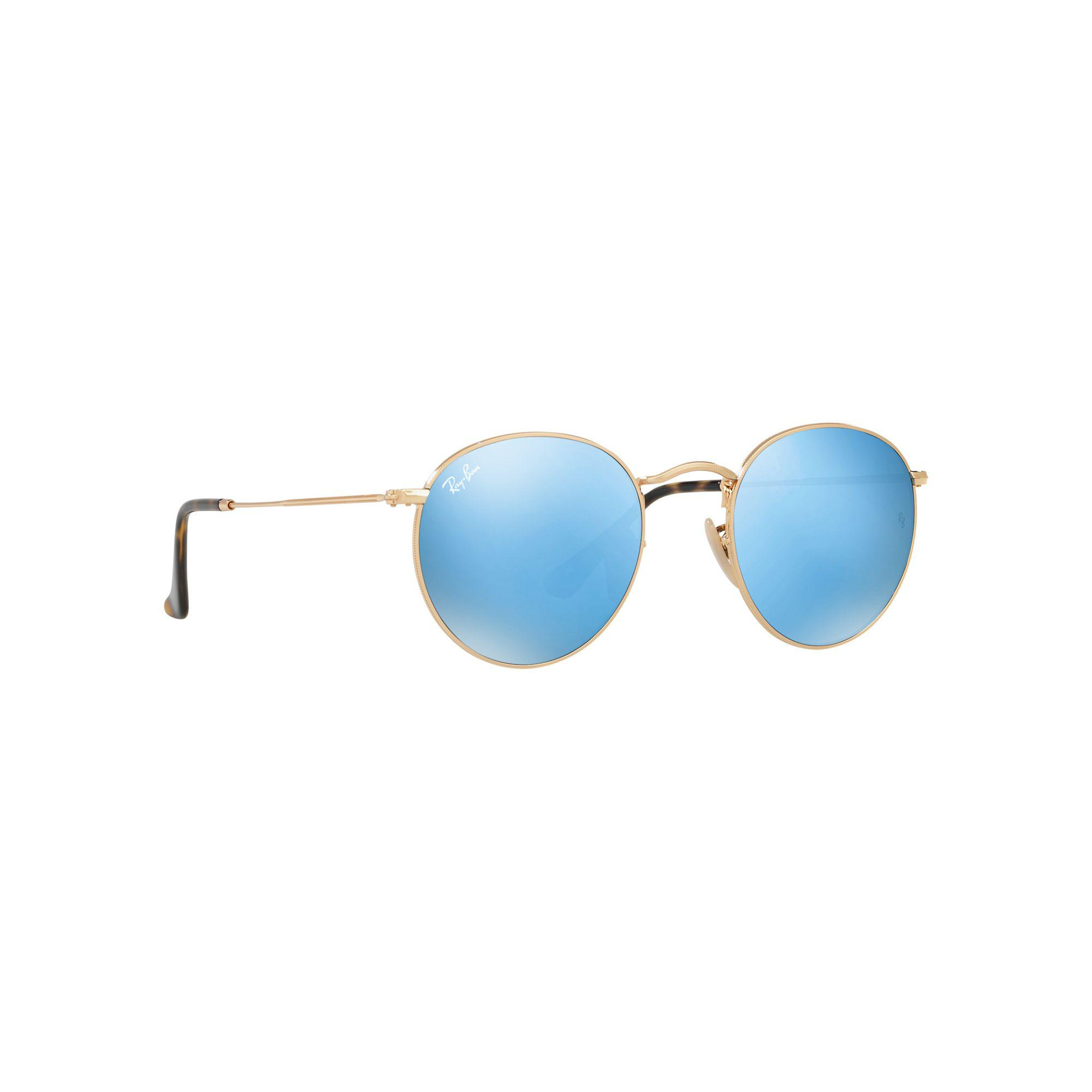 5002b7bda6 Lyst - Ray-Ban Shiny Gold  round  Rb3447n Sunglasses in Metallic for Men