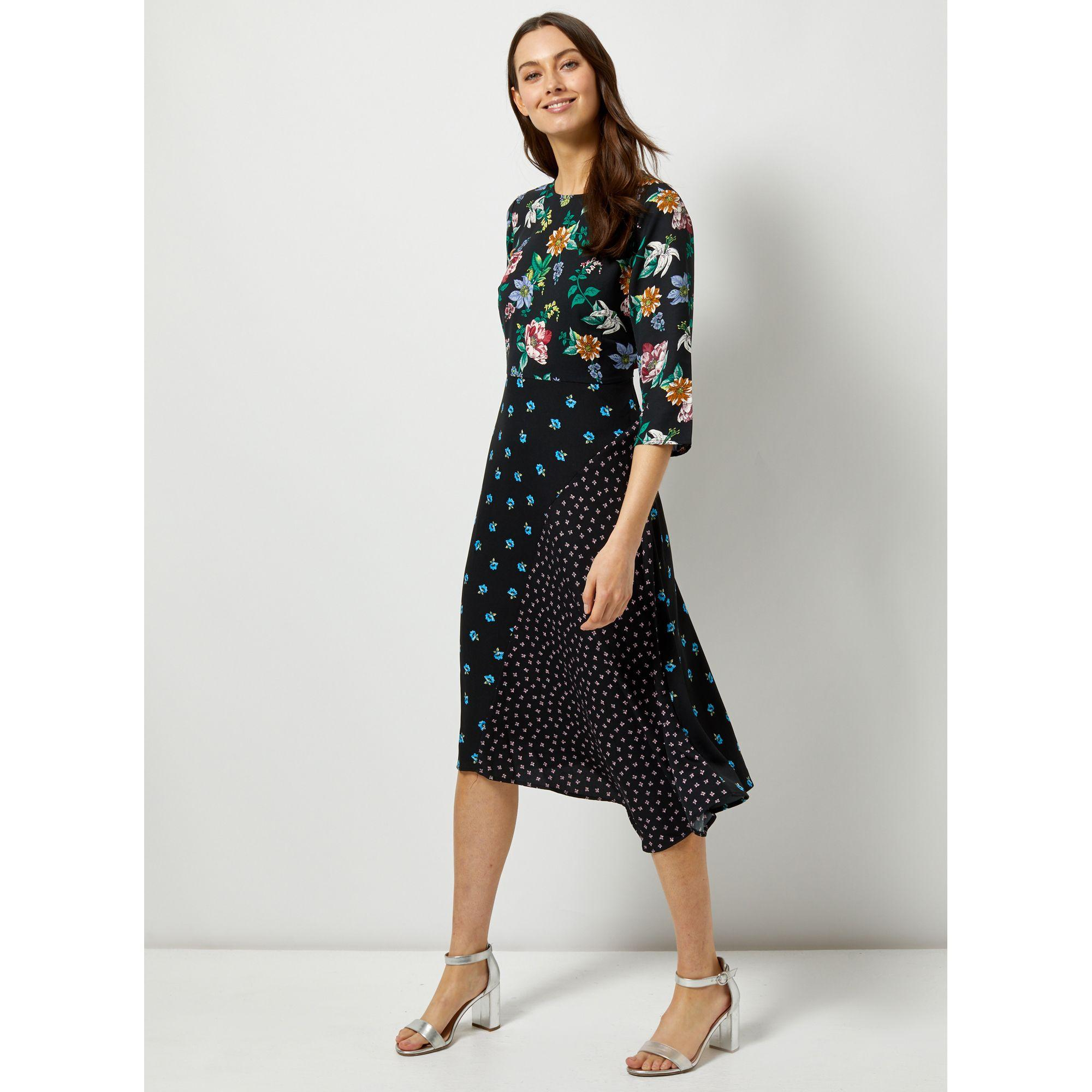 eee9f68250f92c Dorothy Perkins. Women's Multi Colour Ditsy Print Asymmetric Midi Dress