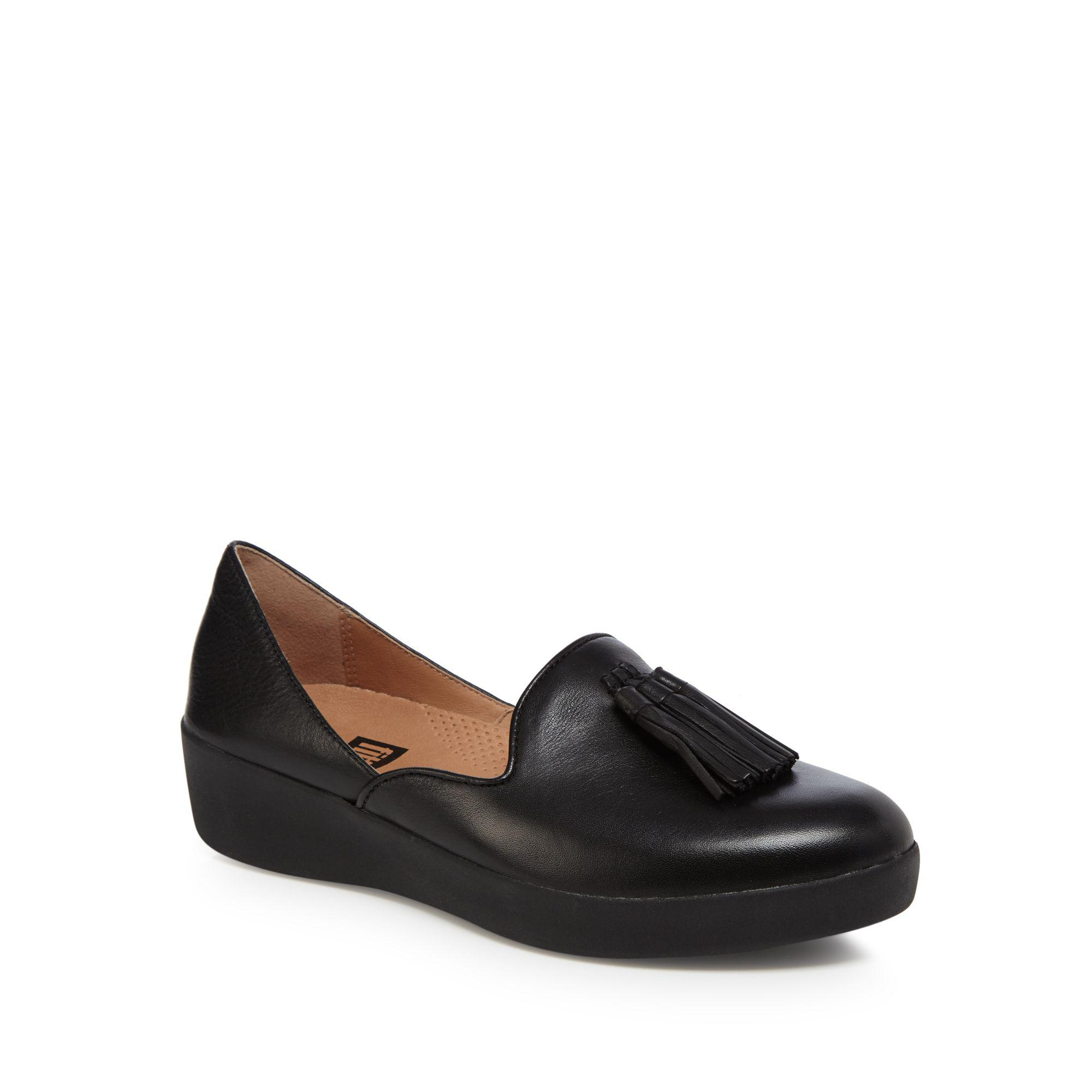 clearance in China Black leather 'Superskate D'orsay' mid flatform heel loafers brand new unisex cheap price hot sale for sale cheap sale top quality cheap sale best prices H3LhNMQ4J