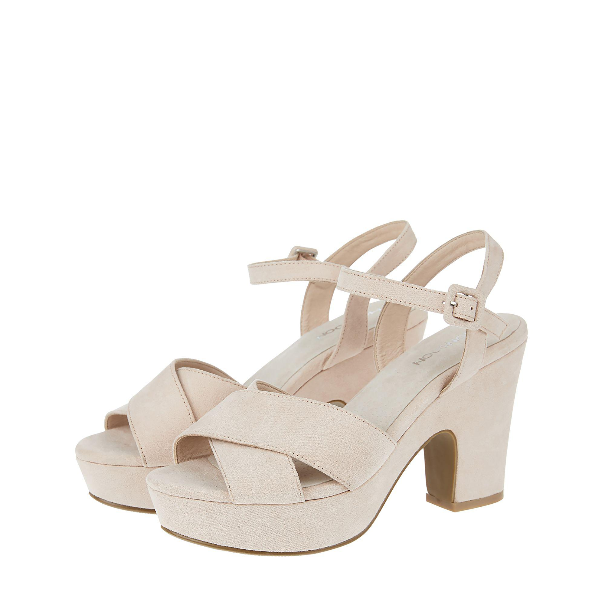 Pink 'Carrie' crossover platform sandals clearance exclusive great deals cheap online outlet Cheapest reliable sale online wMTLIuiTd8