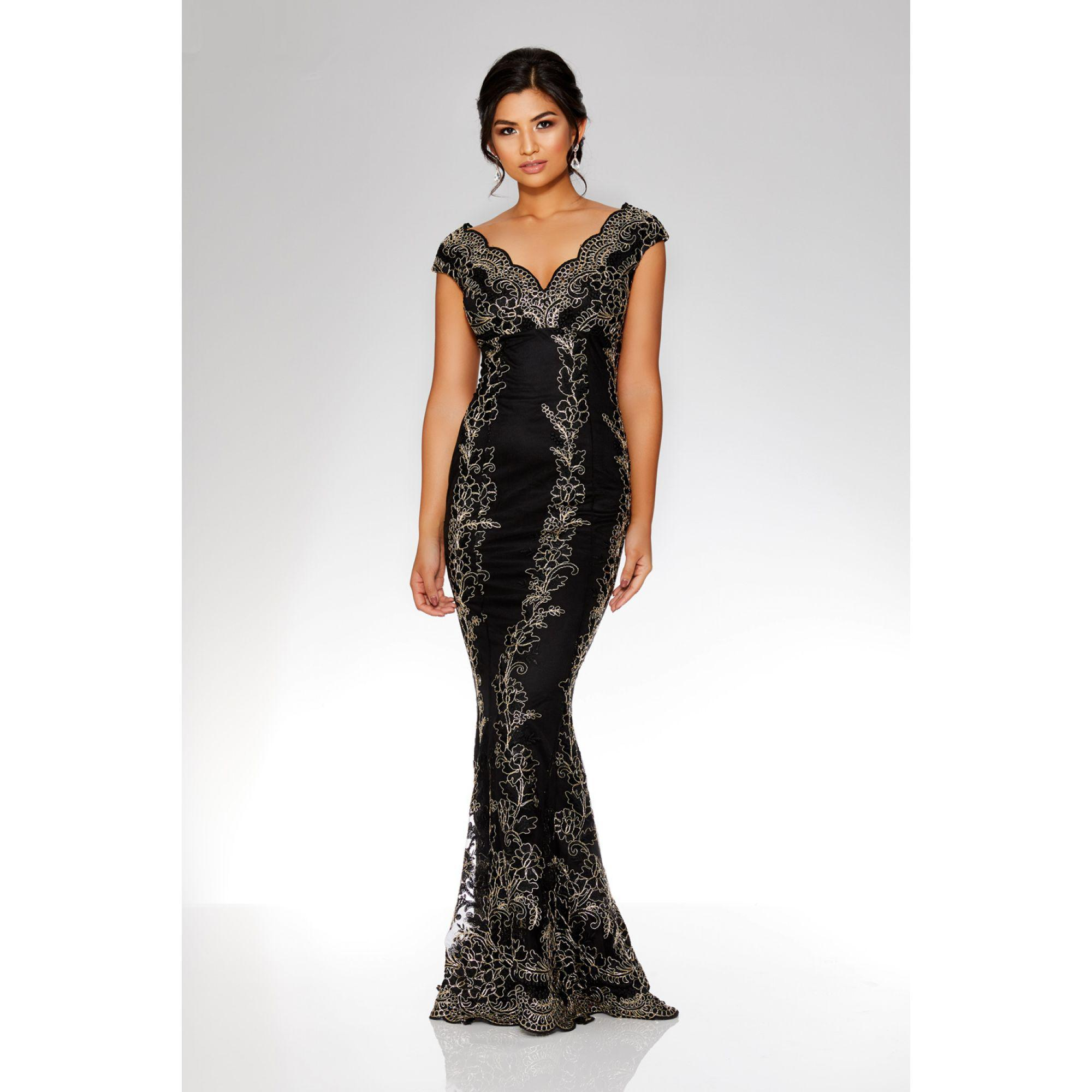 0da875d0ed2 Quiz Black And Gold Sequin Maxi Dress - Gomes Weine AG