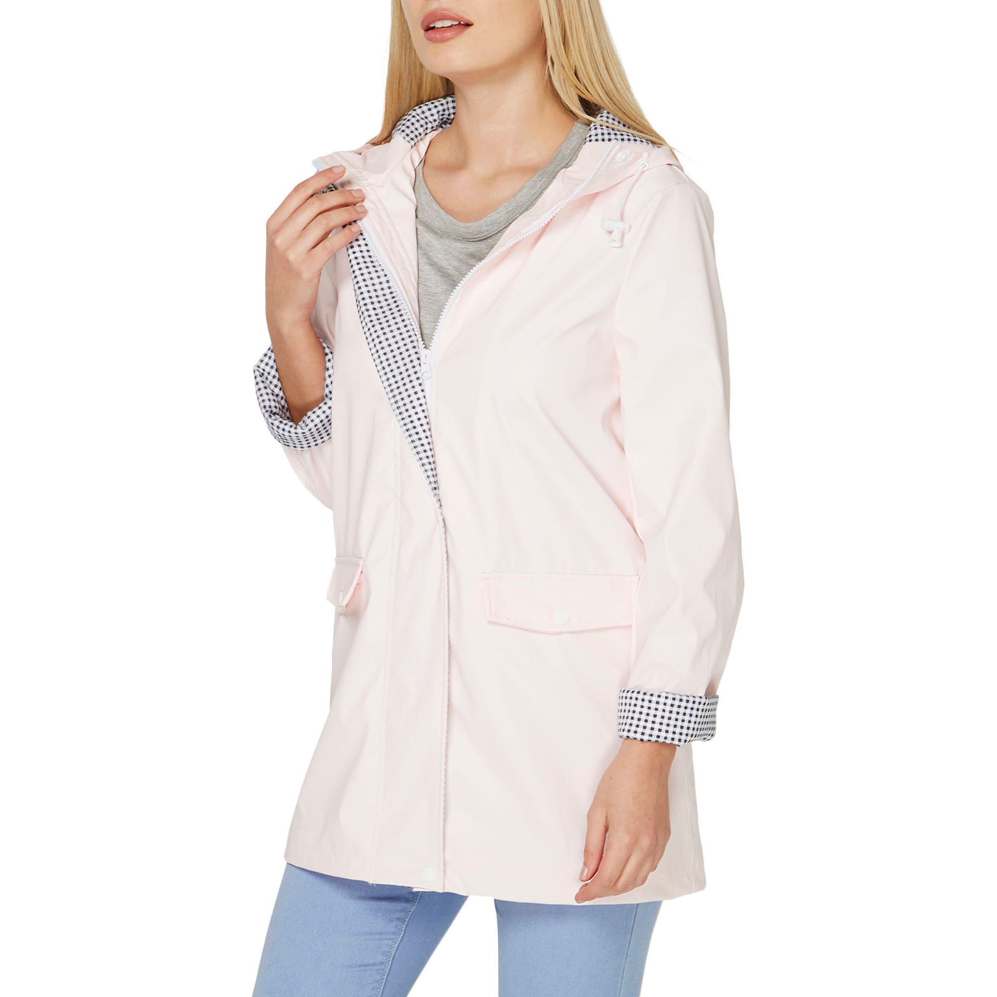 wholesale superior performance affordable price Dorothy Perkins Pink Button Front Raincoat