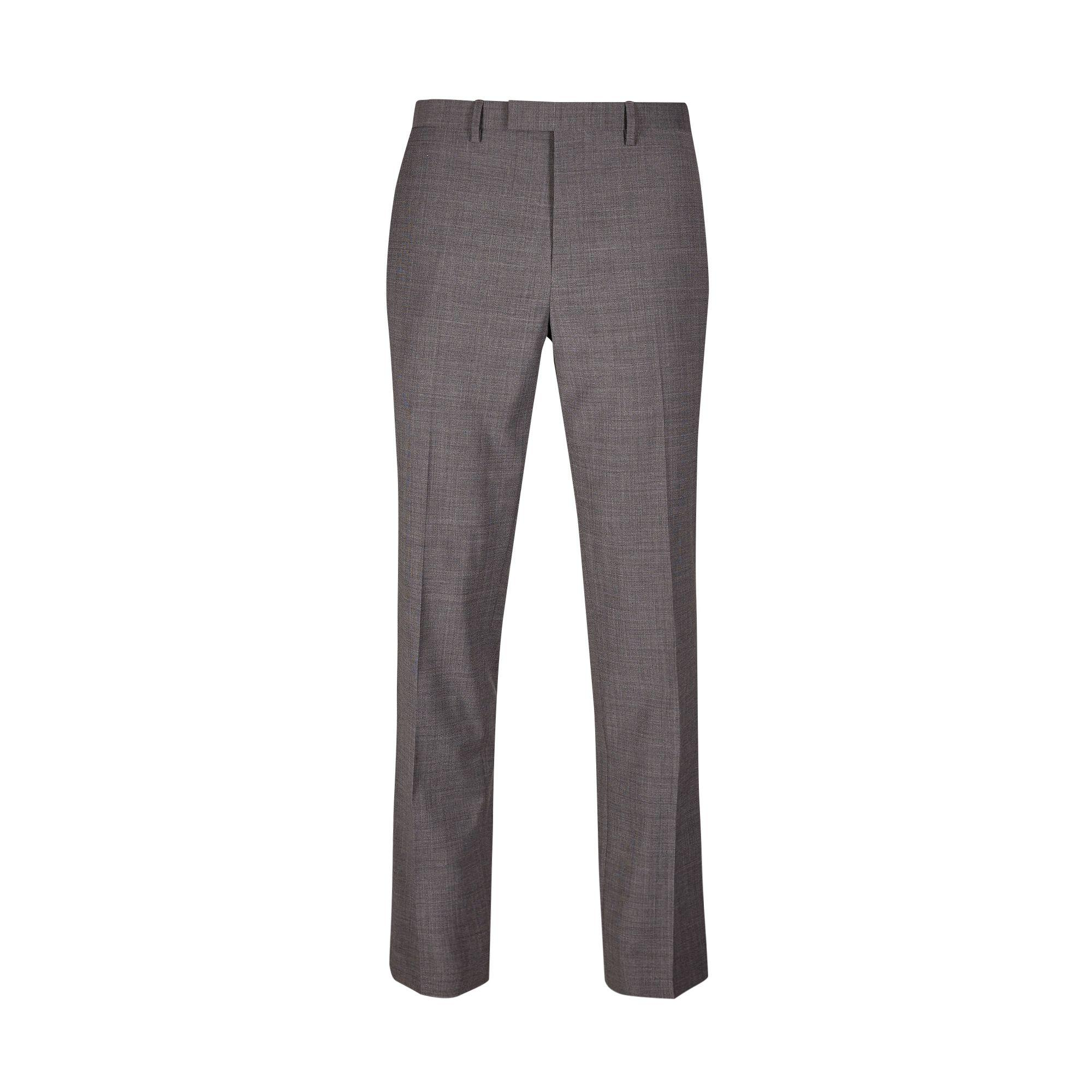 Burton Grey Smart Collection Slim Fit Suit Trousers in Grey for Men