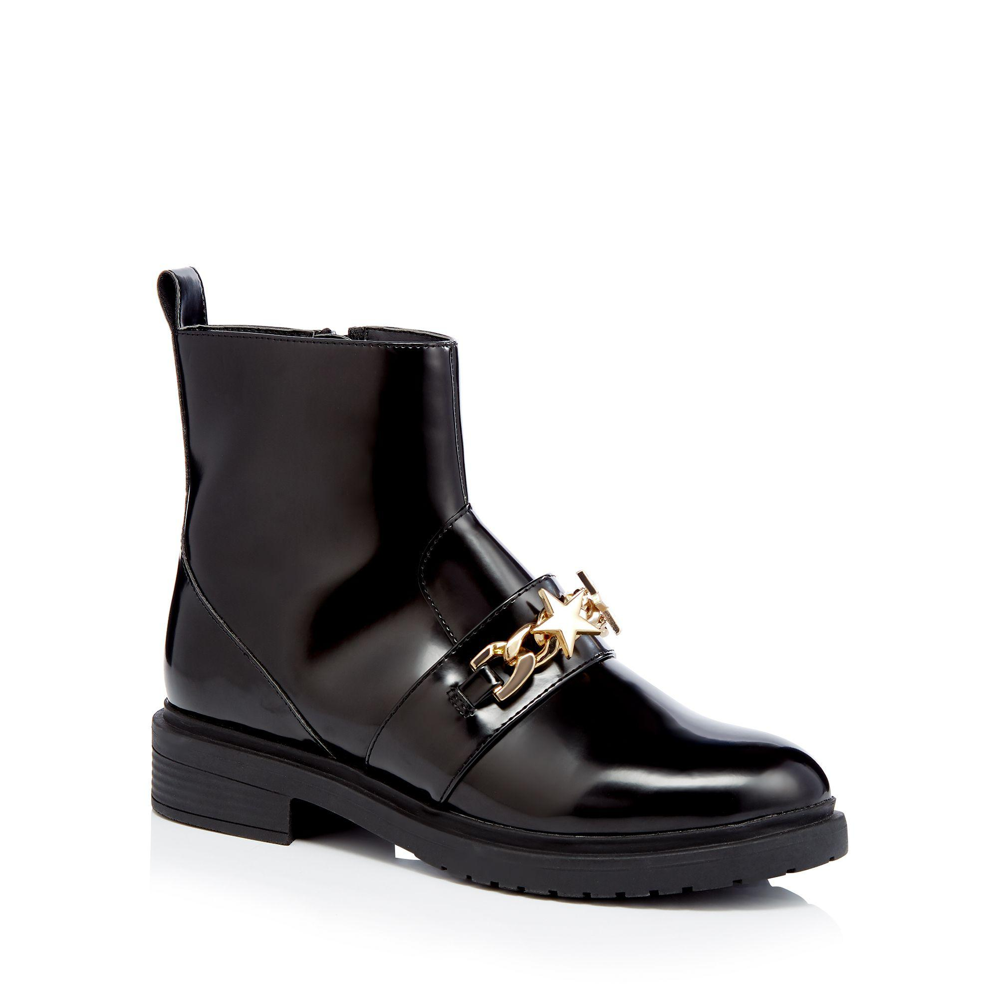Chain Detail Ankle Boots