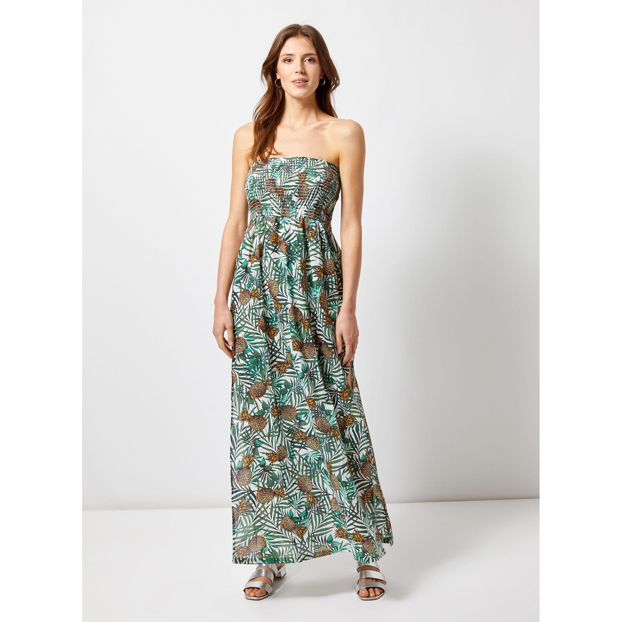 620ed892df63 Dorothy Perkins. Women's Green Beachwear Multi Colour Pineapple Print Maxi  Dress