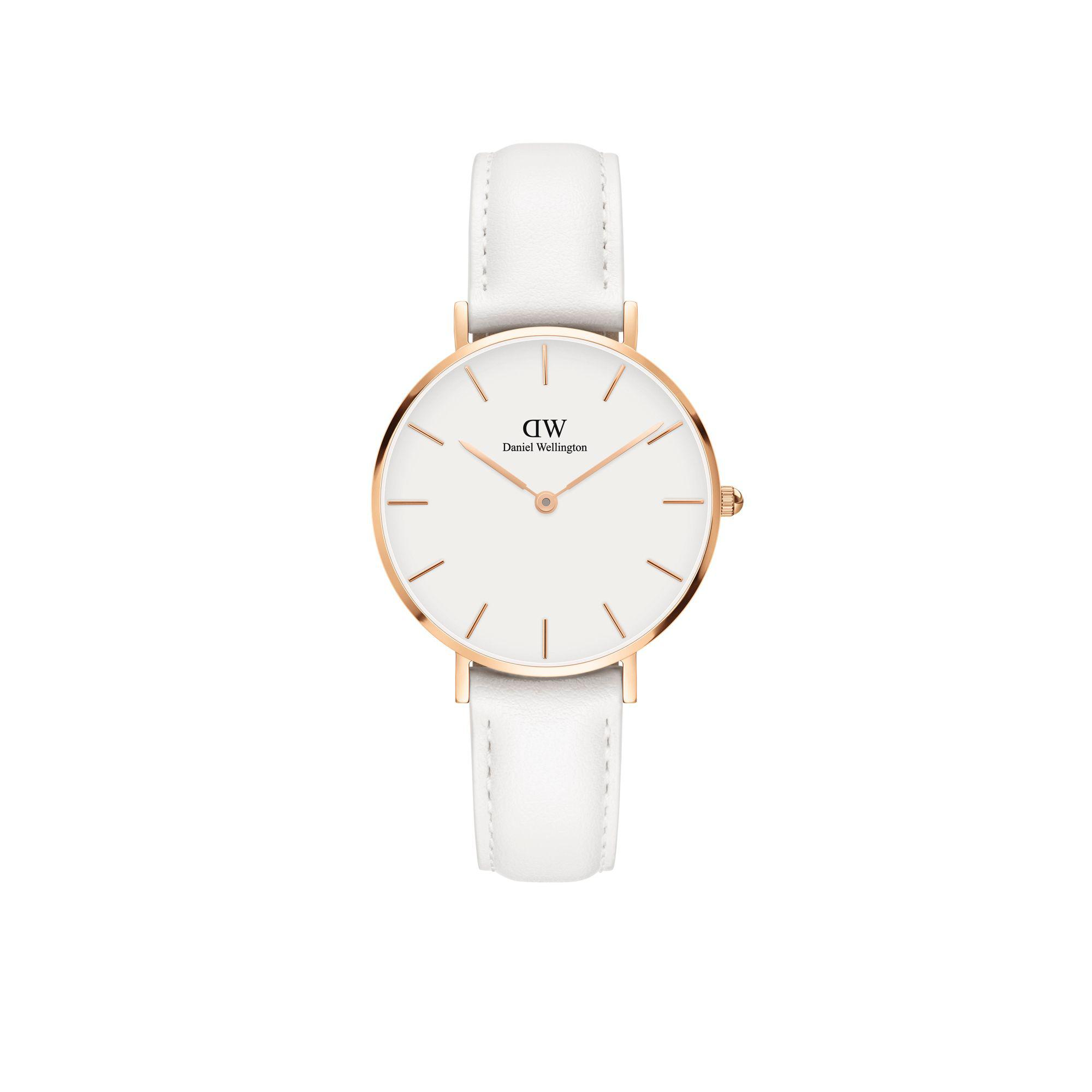 85dabd594ca2 Daniel Wellington. Men s Rose Gold  classic Petite Bondi  White Leather  Strap 32mm Watch