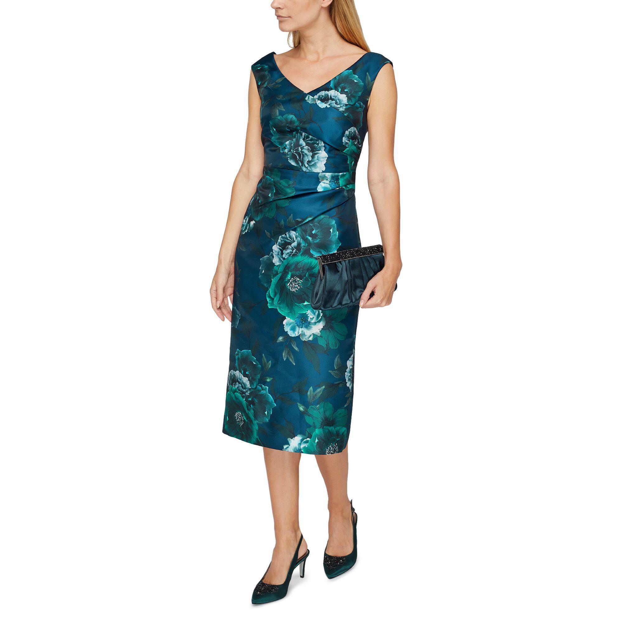 99f07c020 Jacques Vert Baroque Fleur Print Dress in Blue - Lyst