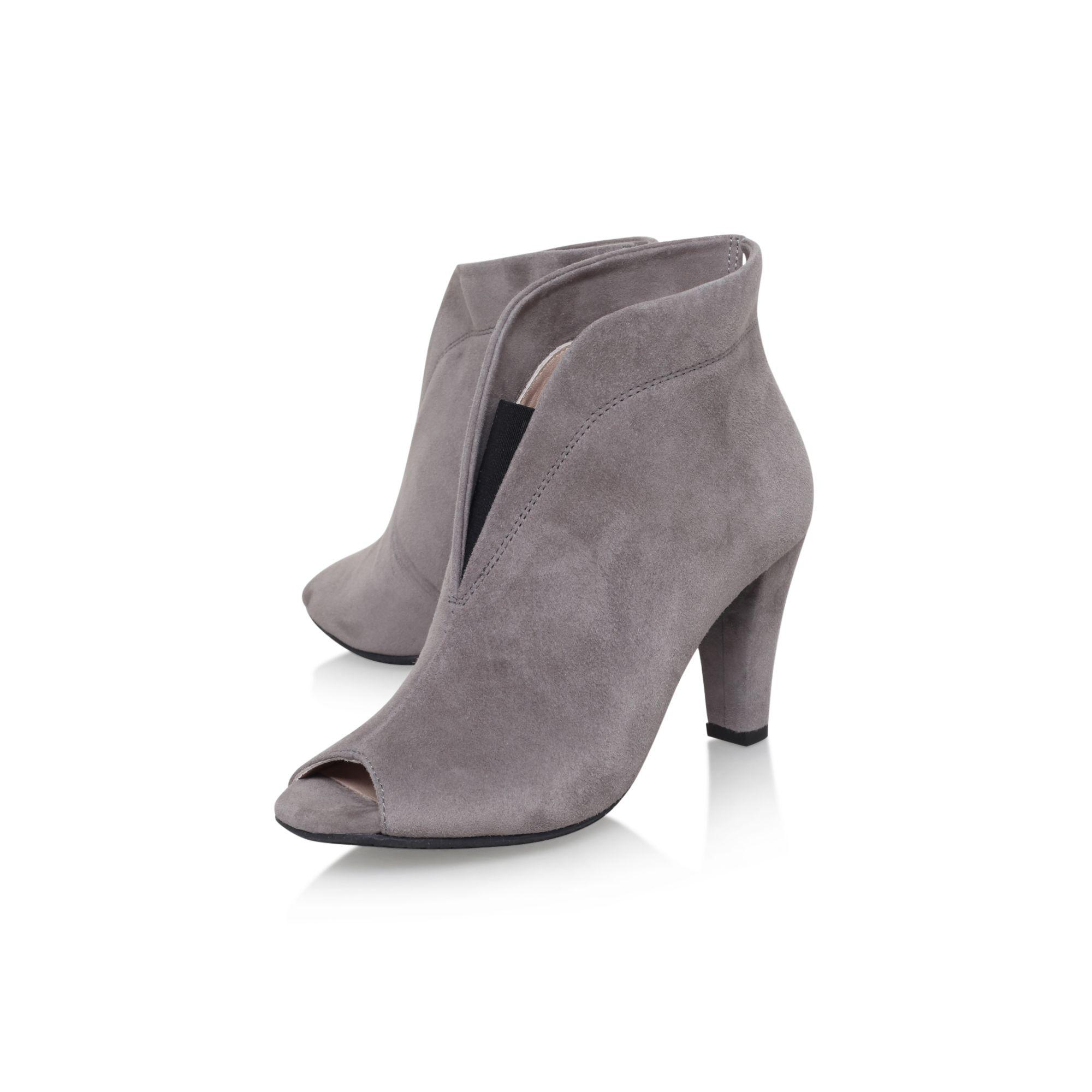 Carvela Kurt Geiger Grey 'rachel' Mid Heel Open Toe Ankle Boot in Grey