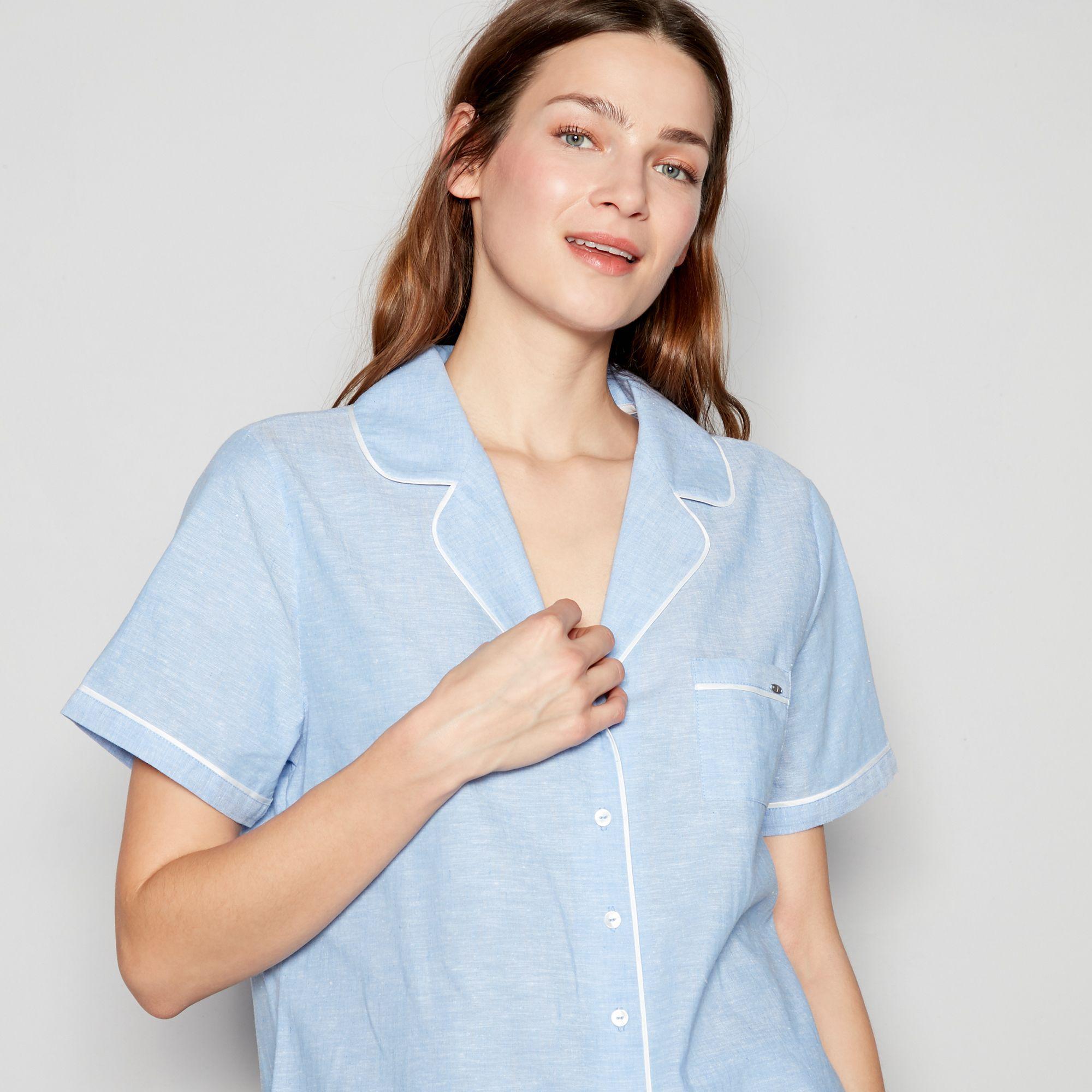 b7ade52e73c J By Jasper Conran Blue Monaco Cotton And Linen Pyjama Set in Blue ...