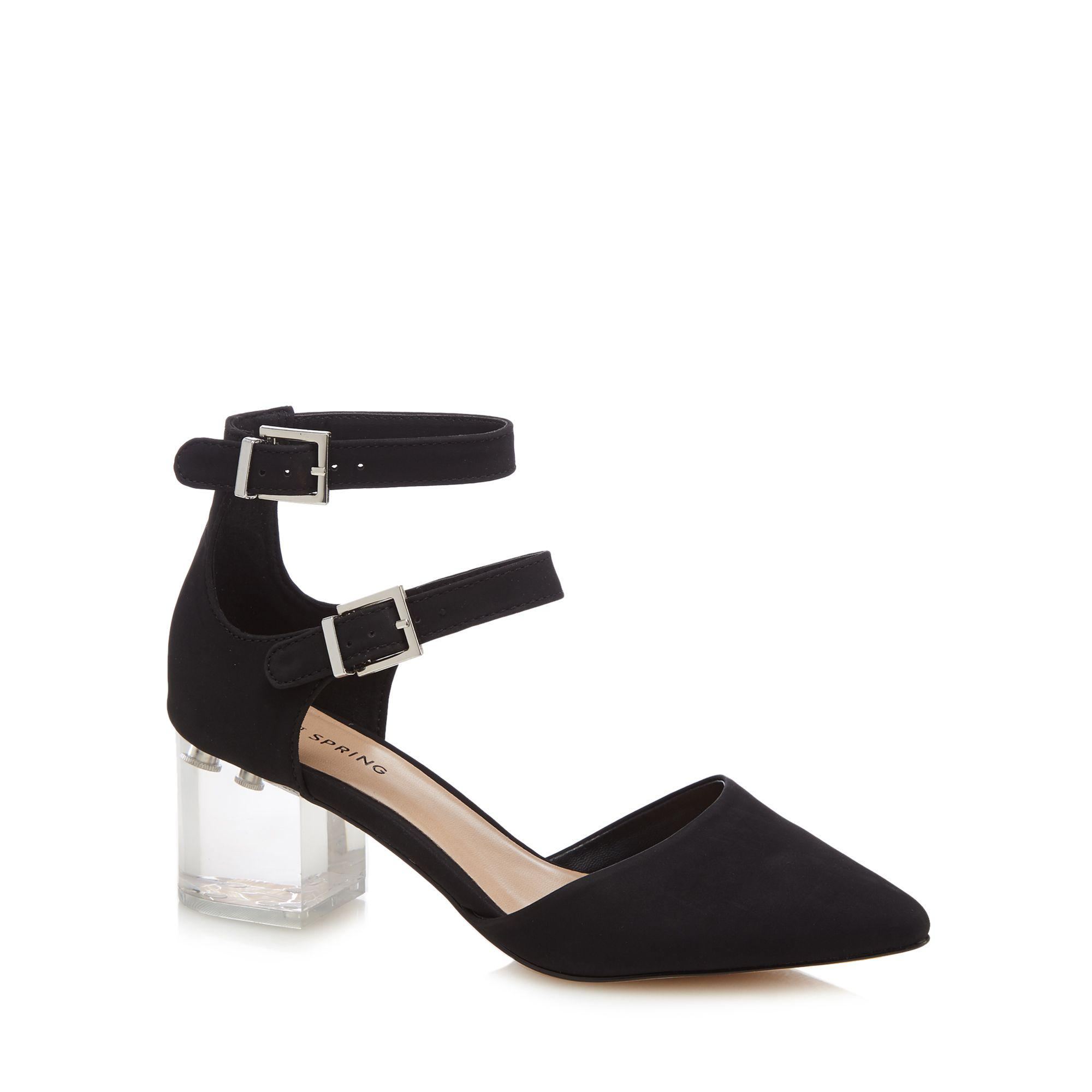 04c817a181f Call It Spring Black Suedette 'larerawiel' Mid Block Heel Pointed Shoes