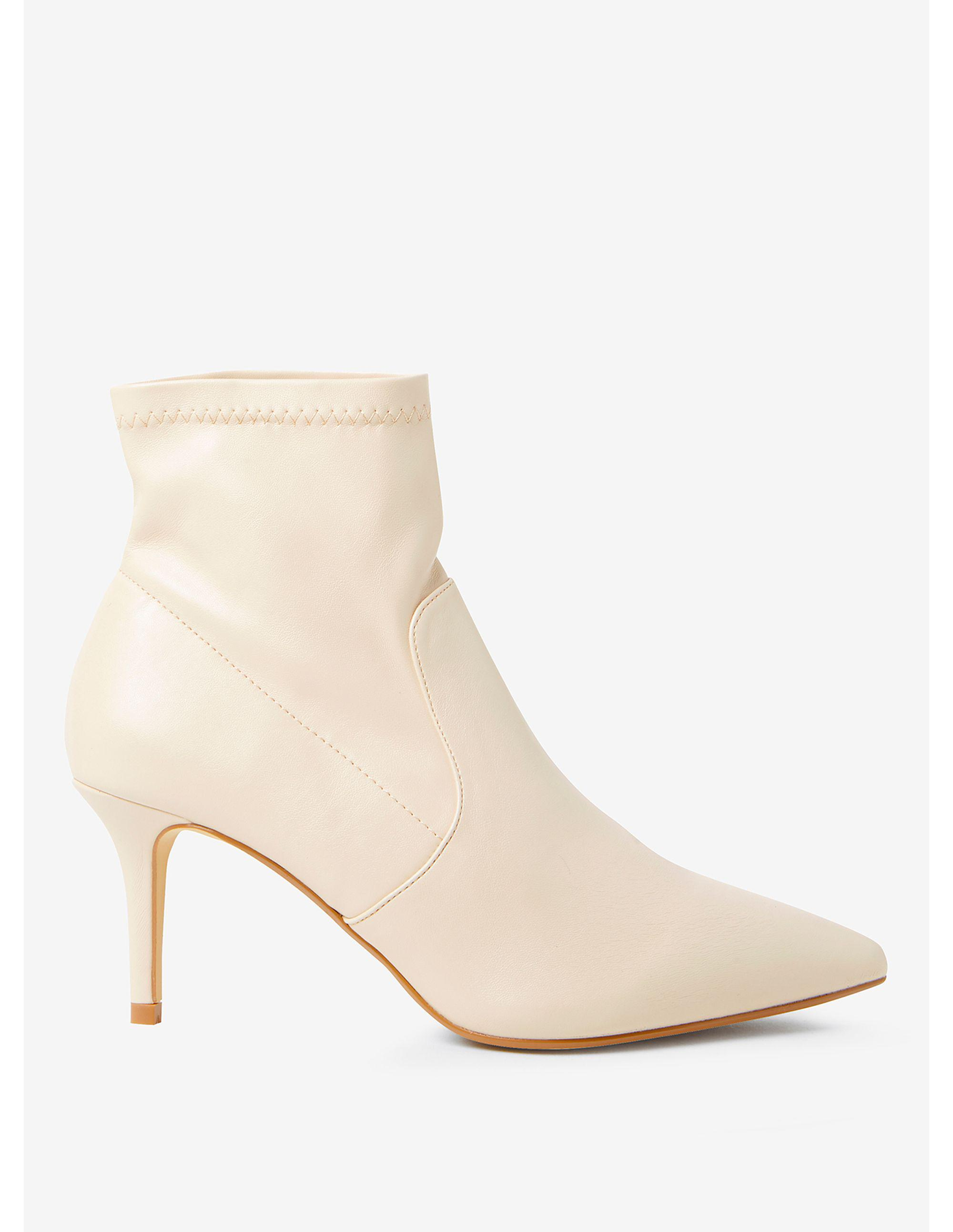 latest top brands check out Dorothy Perkins Bone Motion Kitten Heel Boots in White - Lyst