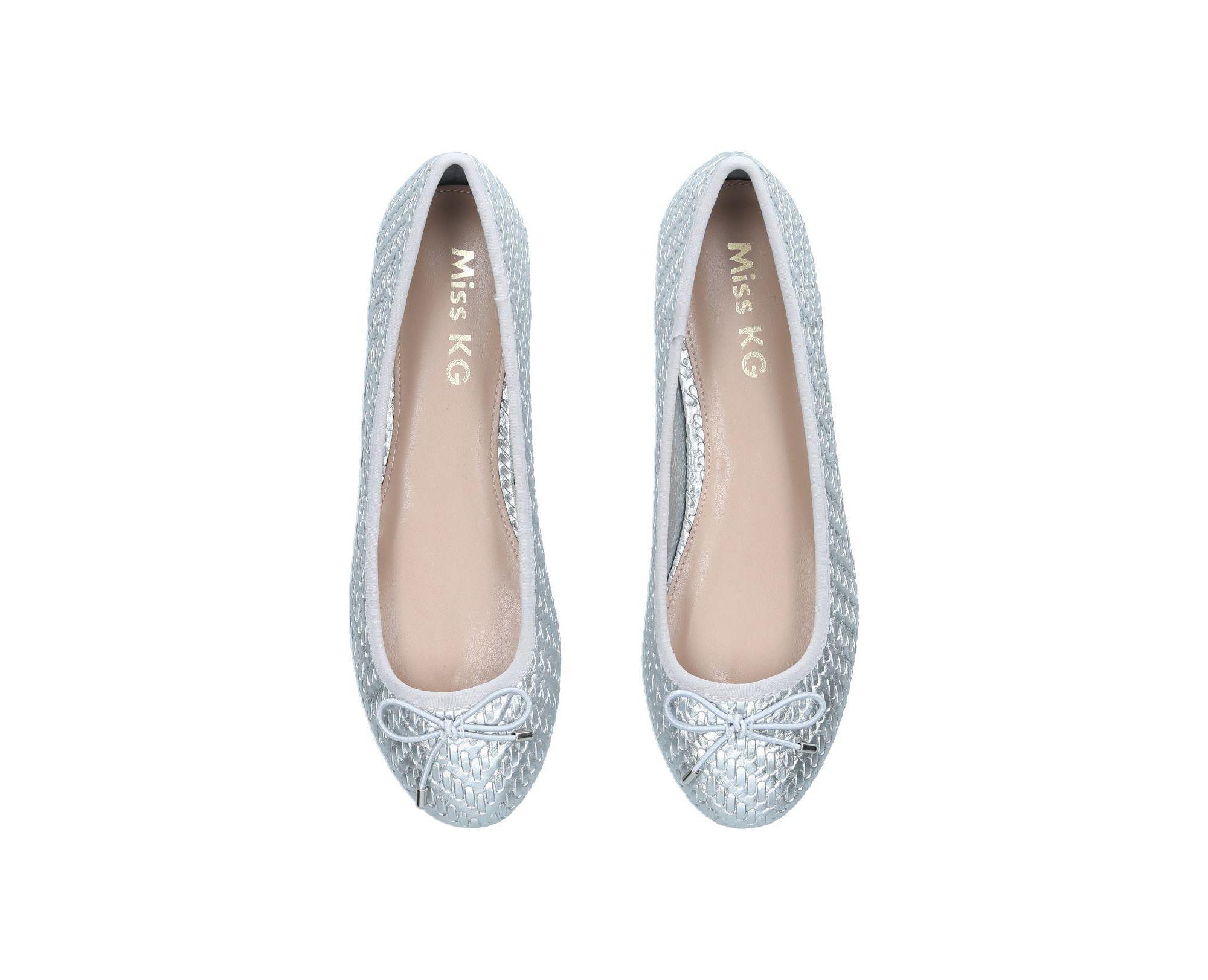 c2c4e4e5c Miss Kg - Metallic Silver  nellie  Flat Ballerina Shoes - Lyst. View  fullscreen