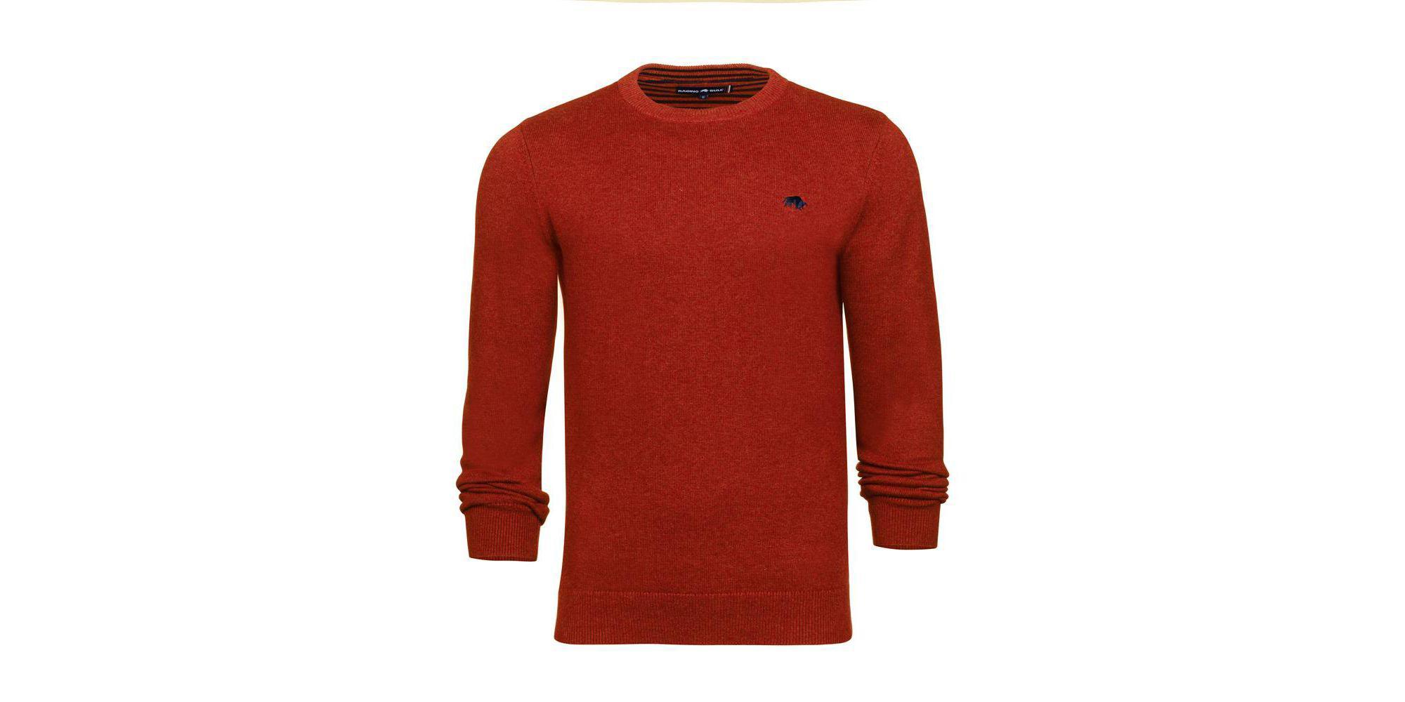 26b7ba5415f3a7 Raging Bull - Orange Crew Neck Cotton Cashmere Sweater for Men - Lyst. View  fullscreen